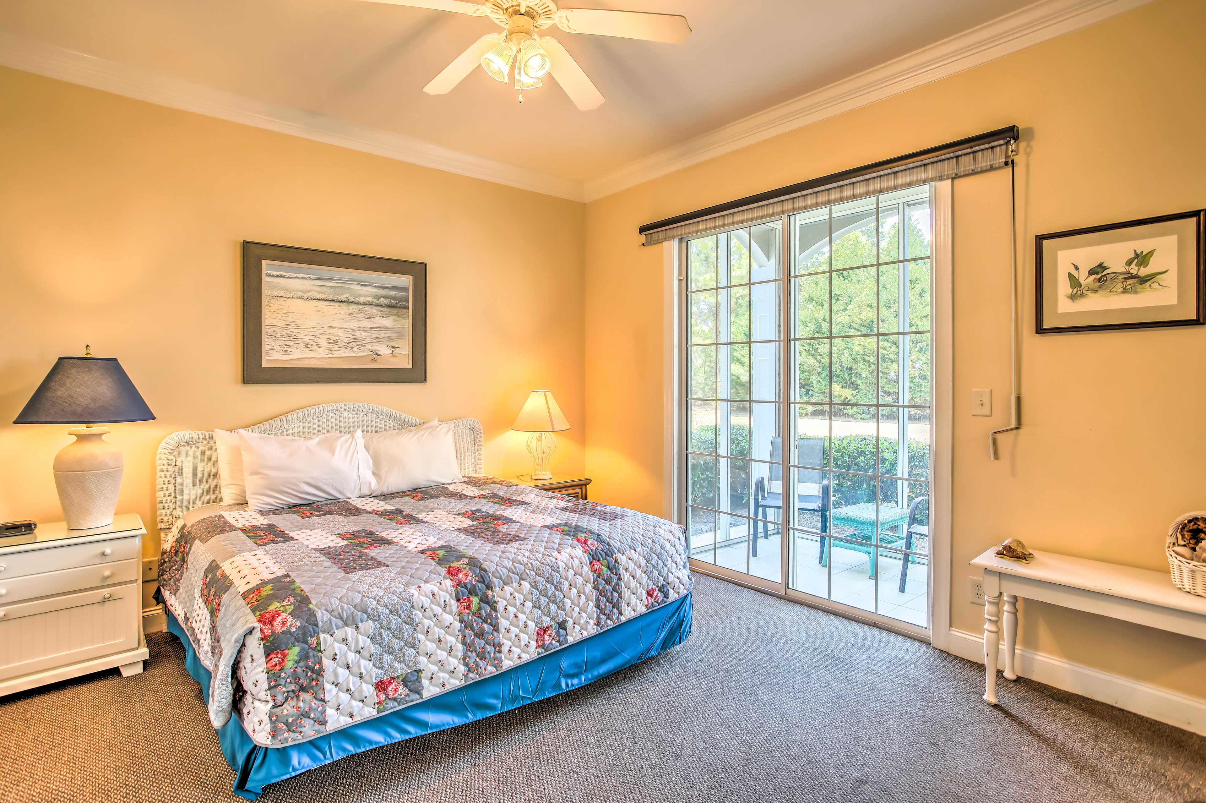 Make your way to the master bedroom for peaceful slumbers.