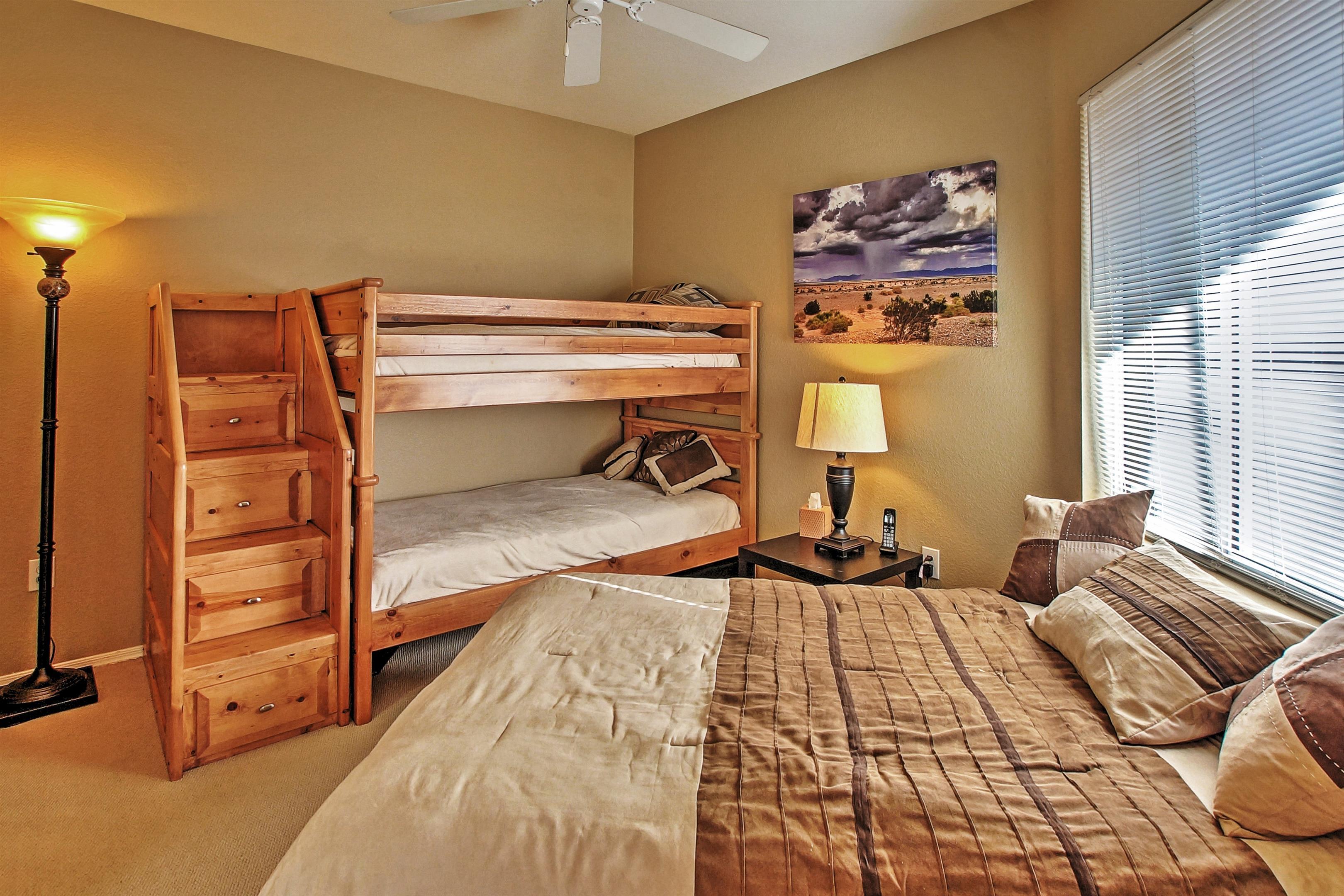 Bedroom 2 | Full Bed | Twin Bunk Bed