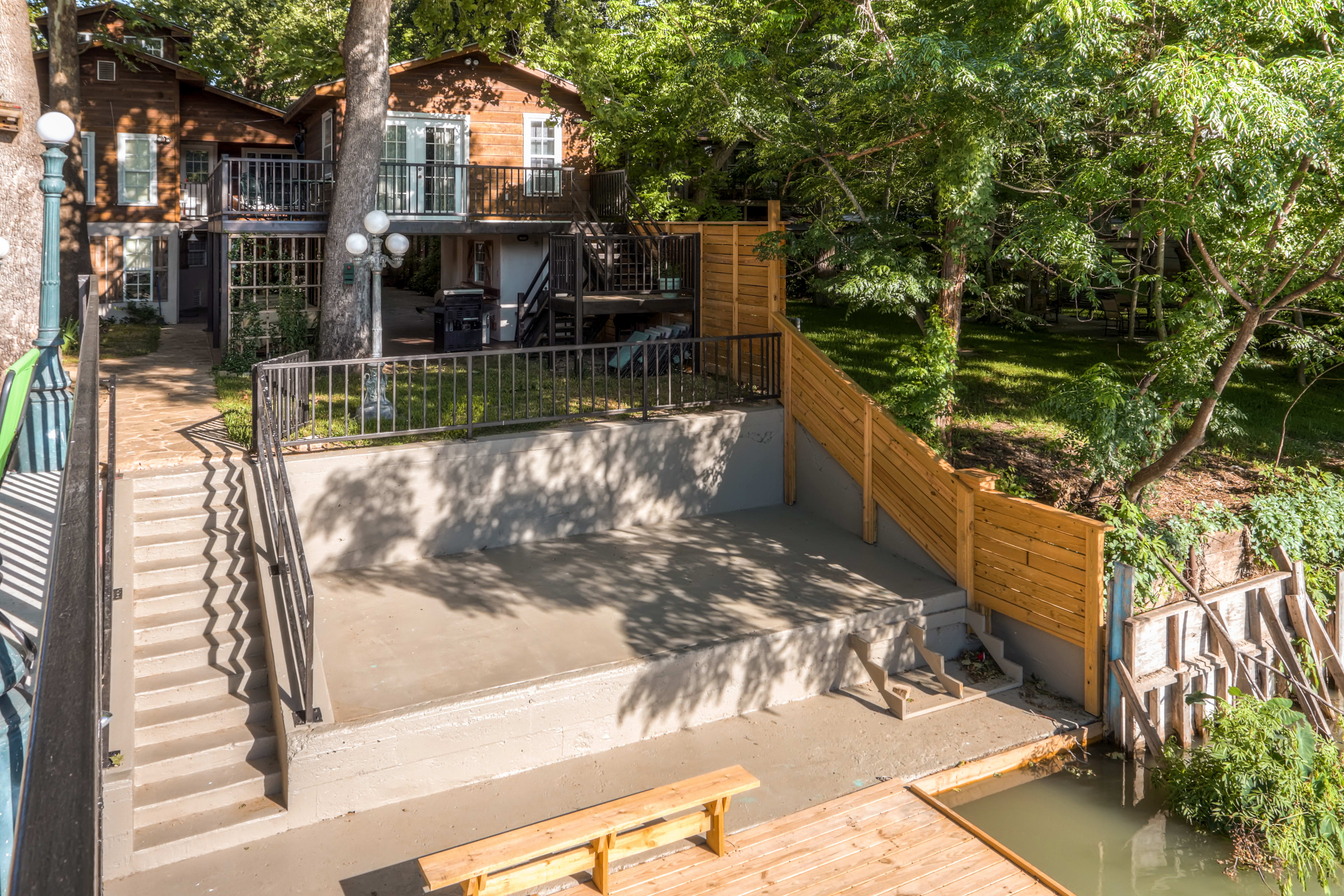 Home Exterior | 1 Boat Slip | Stairs to Access
