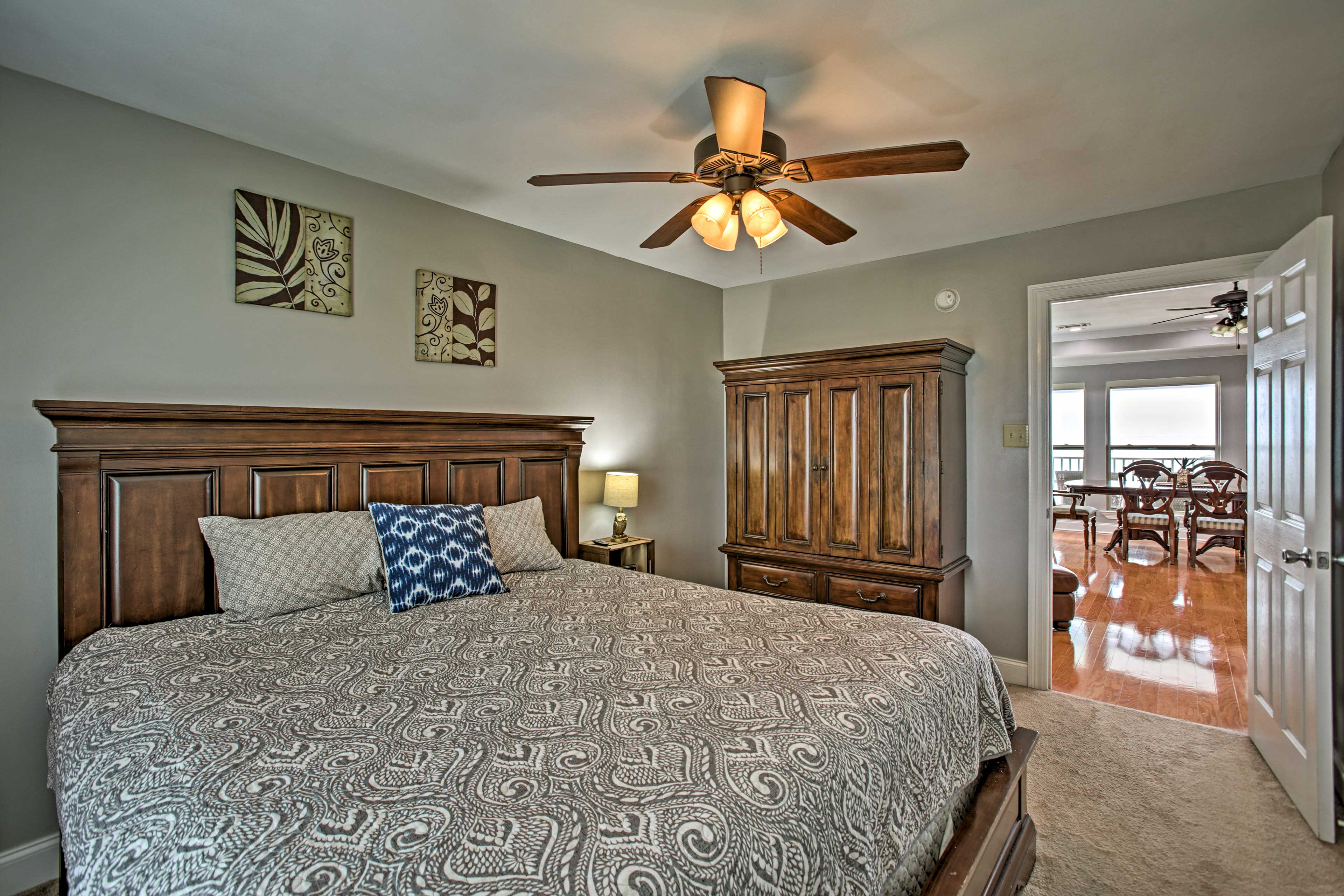 Bedroom 3 | King Bed | Linens Provided