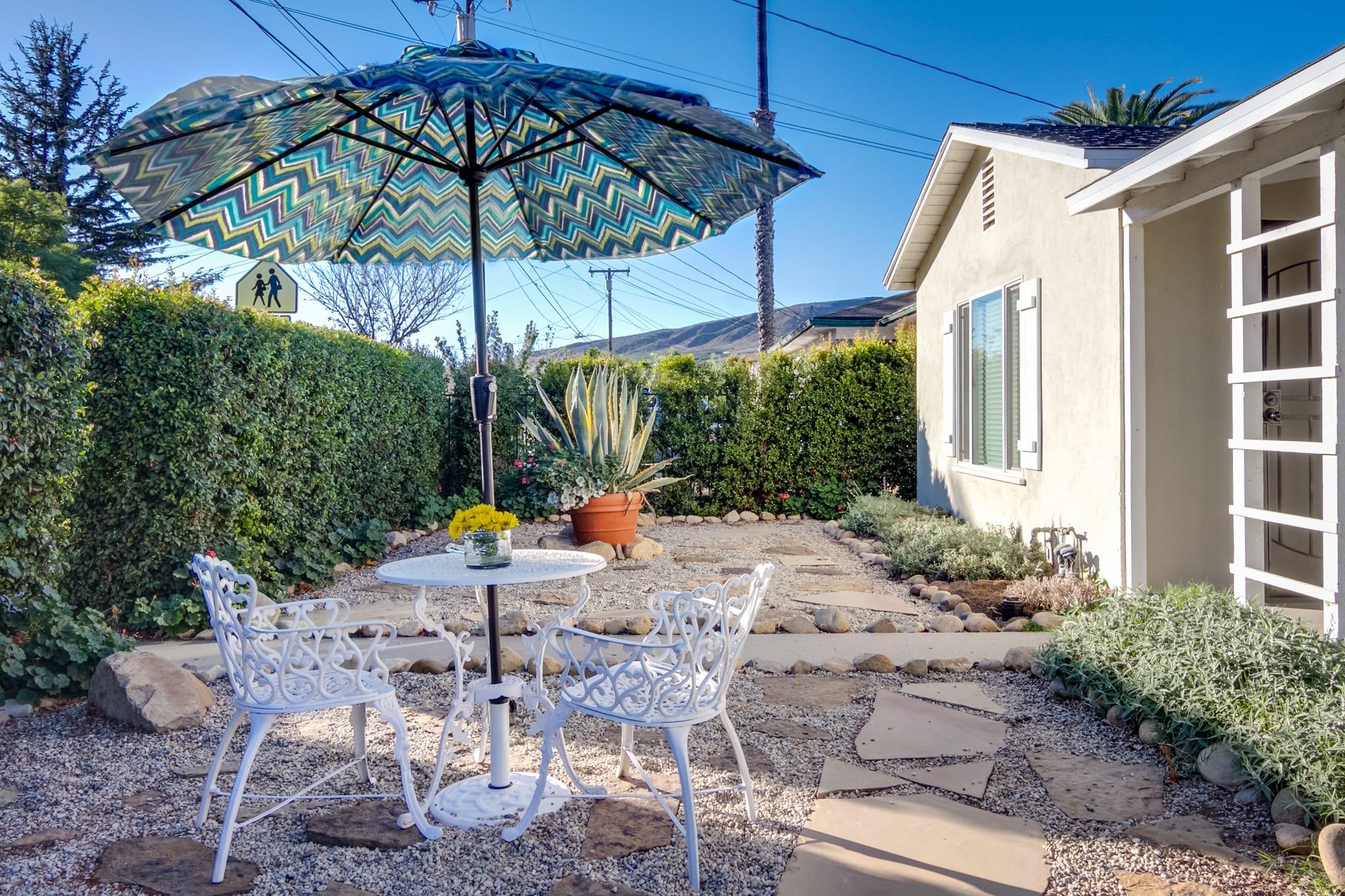 Front Yard | Mountain Views | Bistro Table | Clay Chimenea