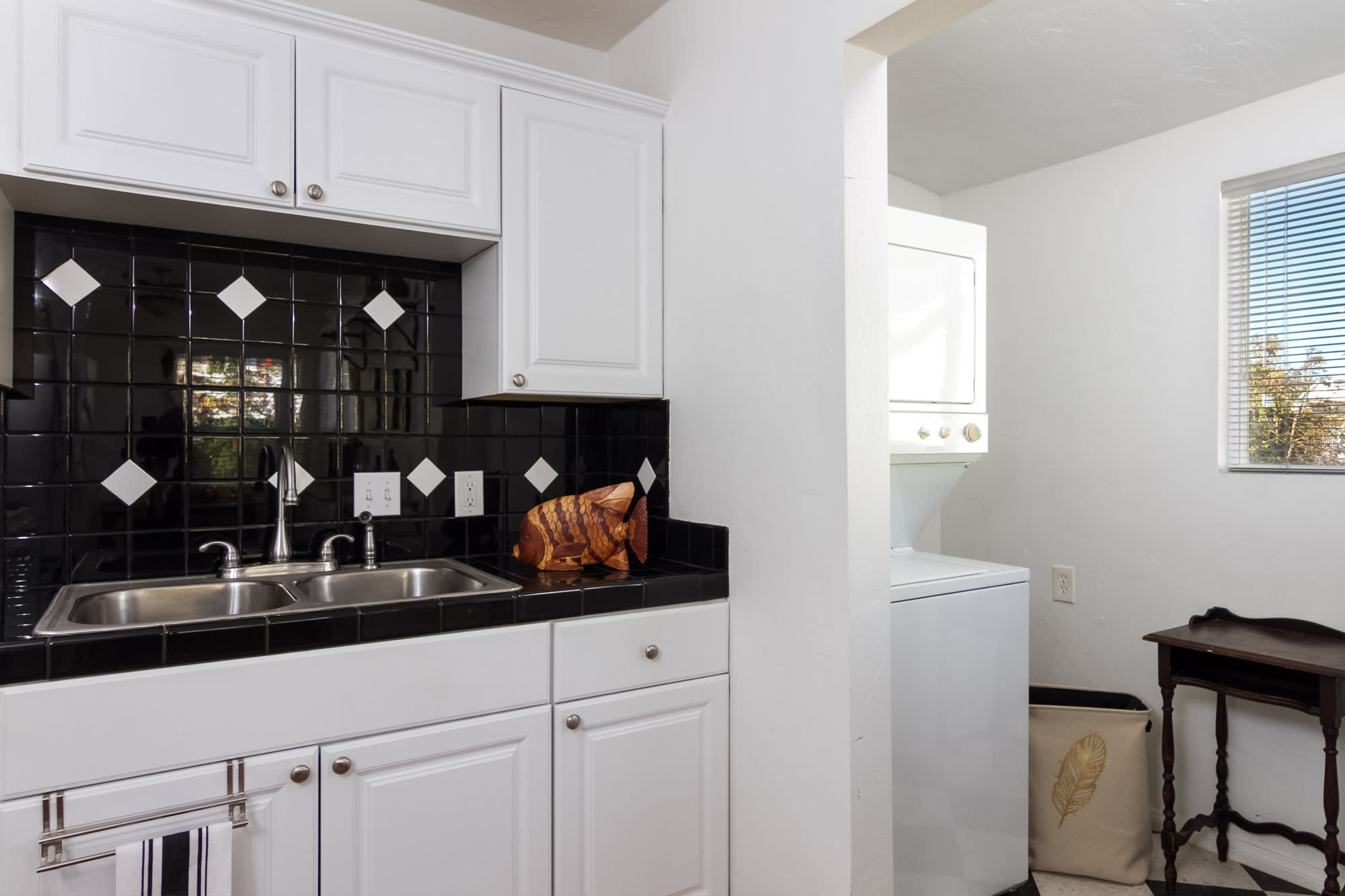 Well-Equipped Kitchen | In-Unit Laundry Machines | Laundry Detergent Provided