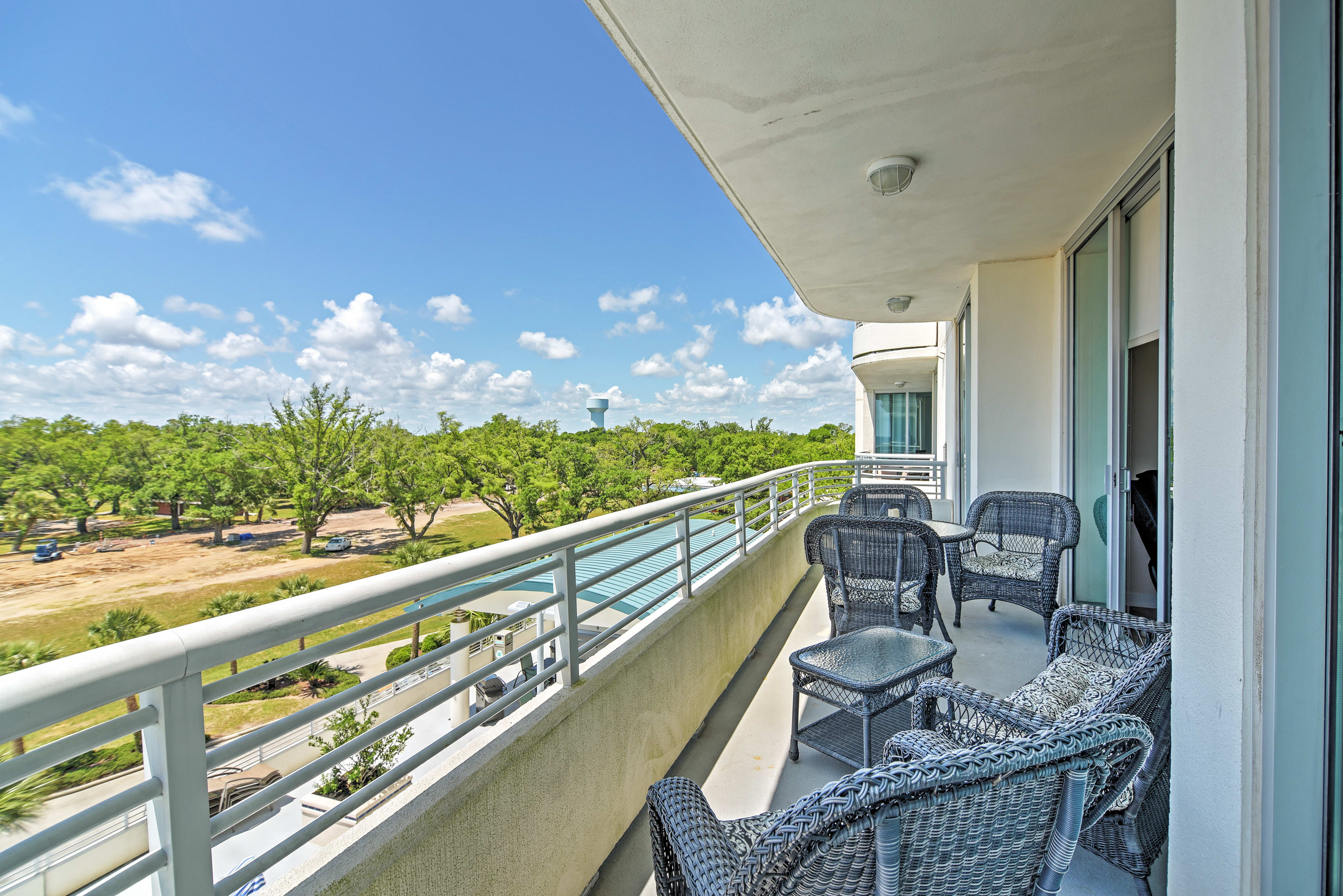 Soak in your prime oceanside location from the private balcony!