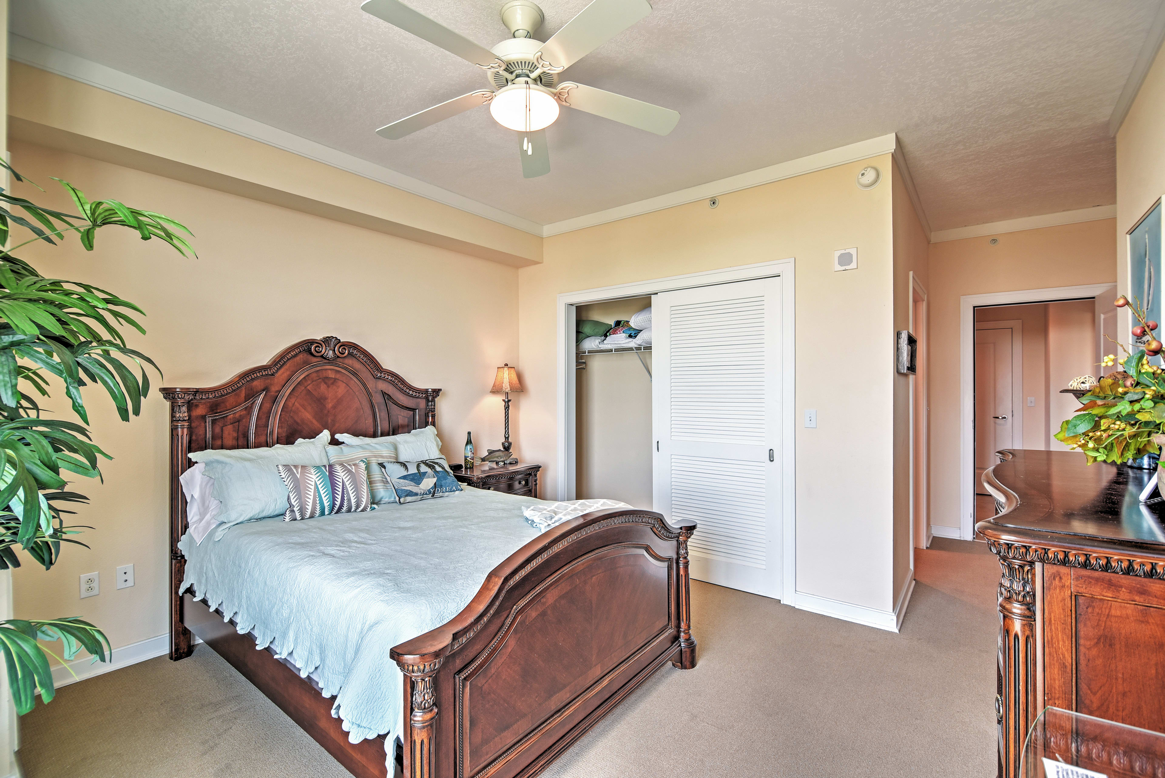 Wake up to the sound of crashing waves from the master bedroom!