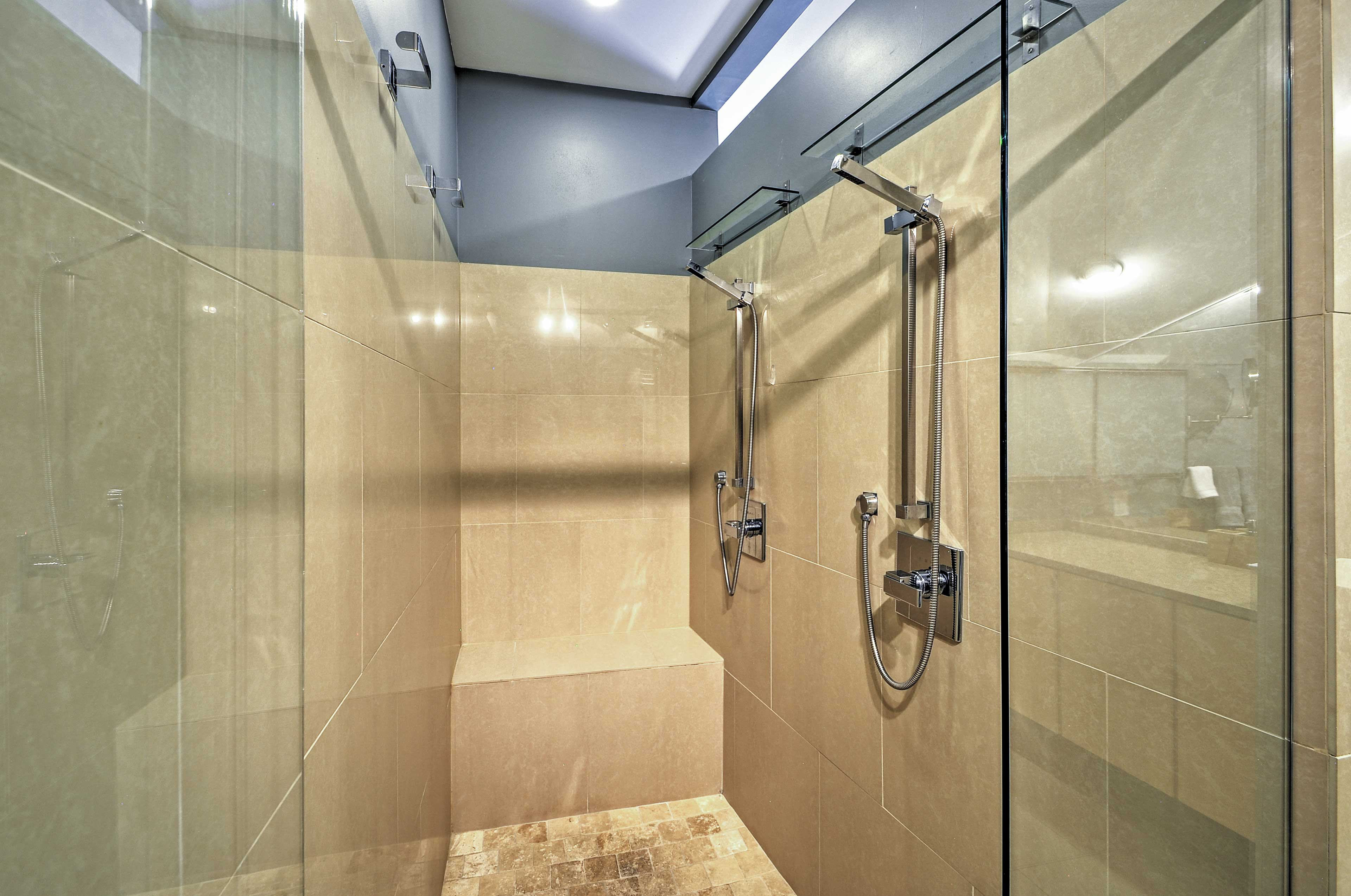 You'll love this impressive shower.