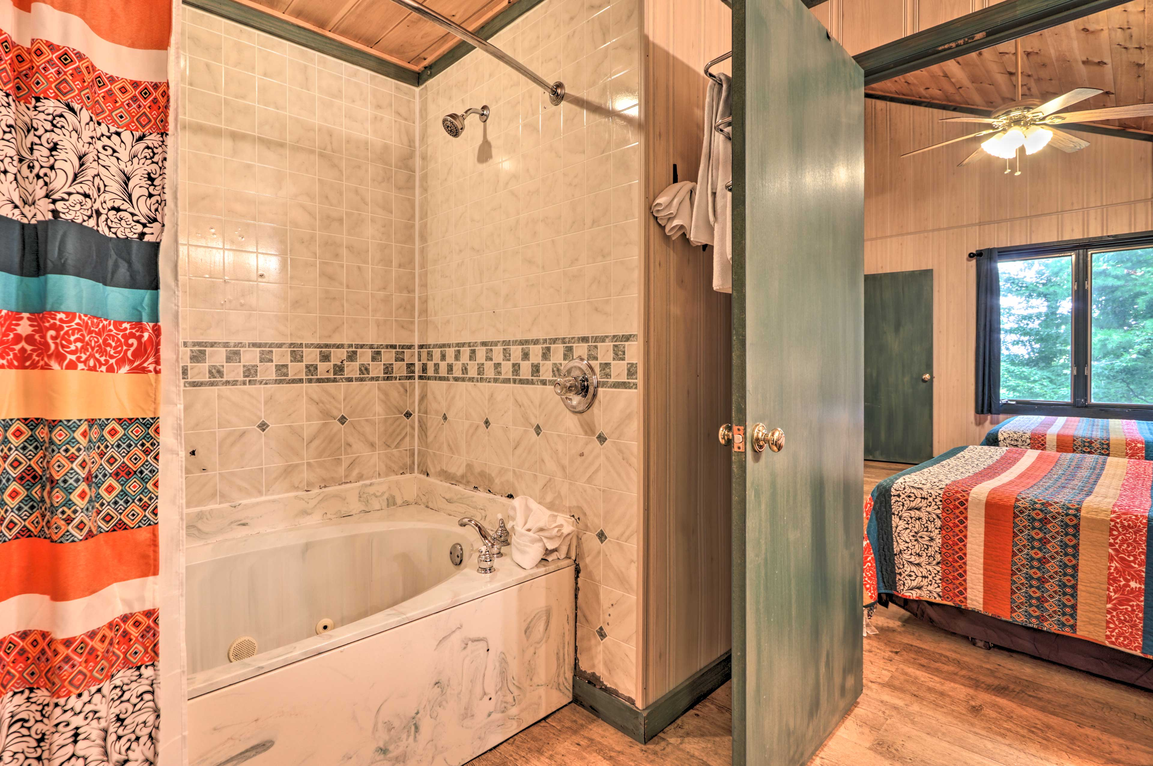You'll love soaking in the inviting tub.