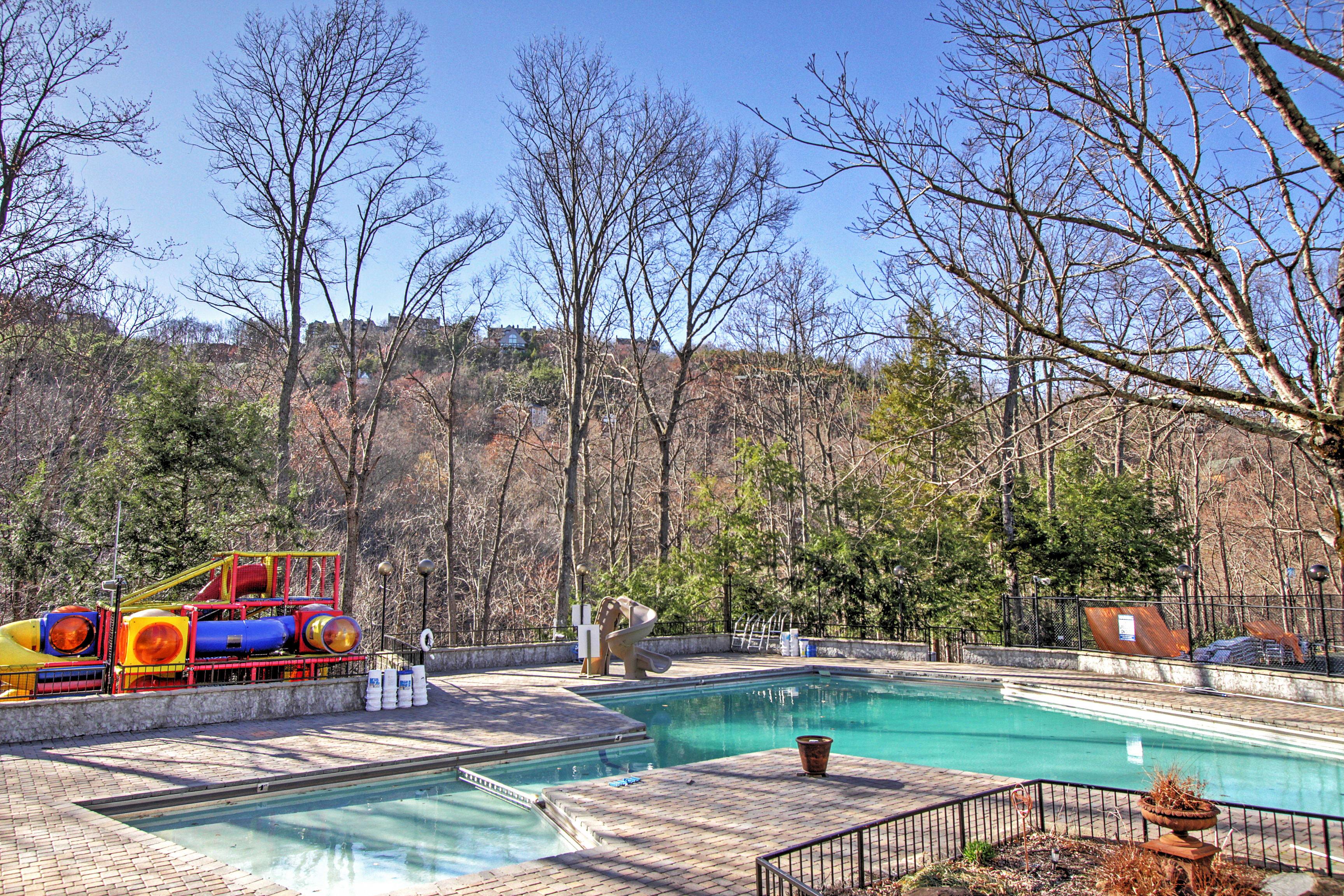 Access to community pools at this Gatlinburg vacation rental house.