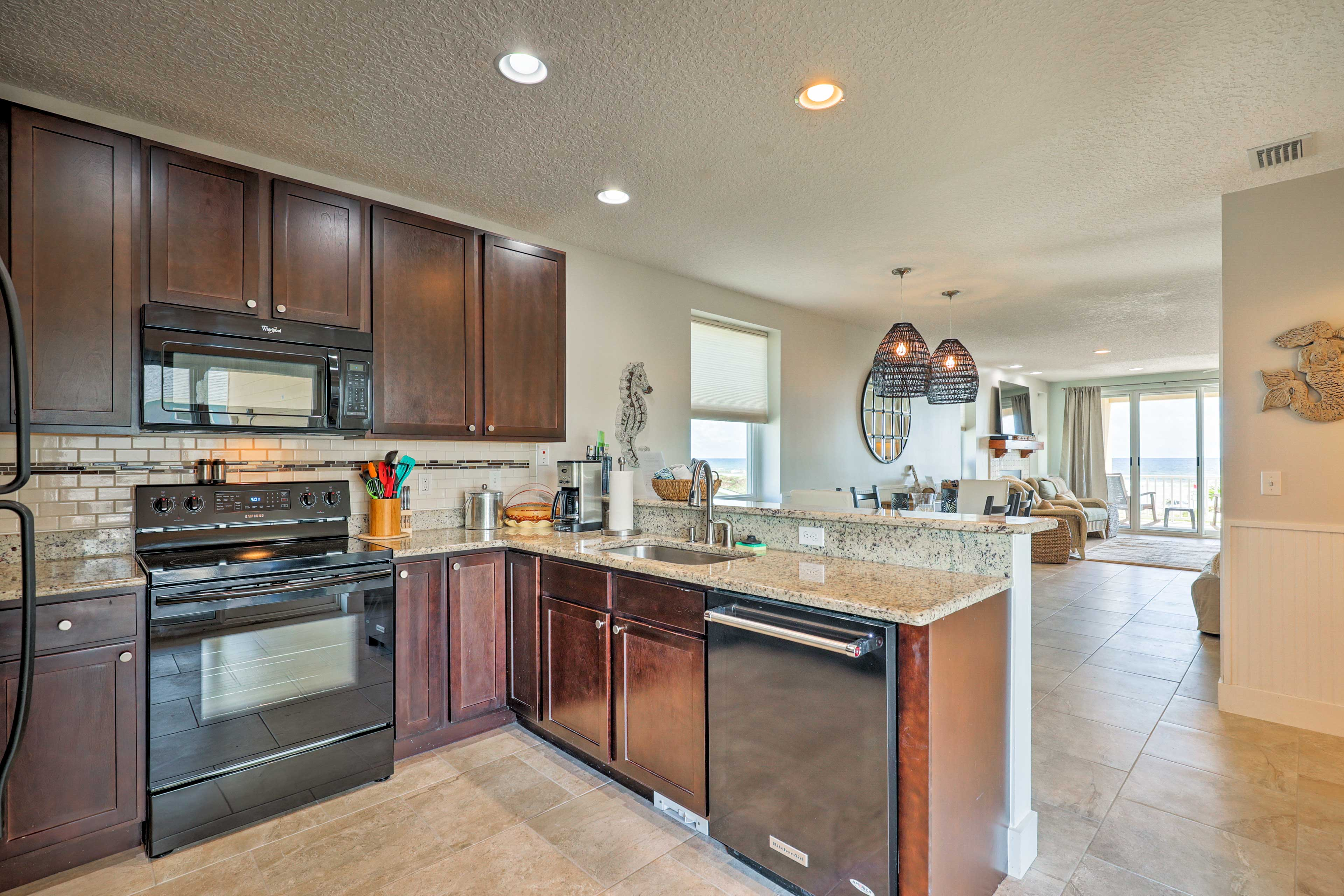 Cook your favorite dinner in this fully-equipped kitchen on the second floor.