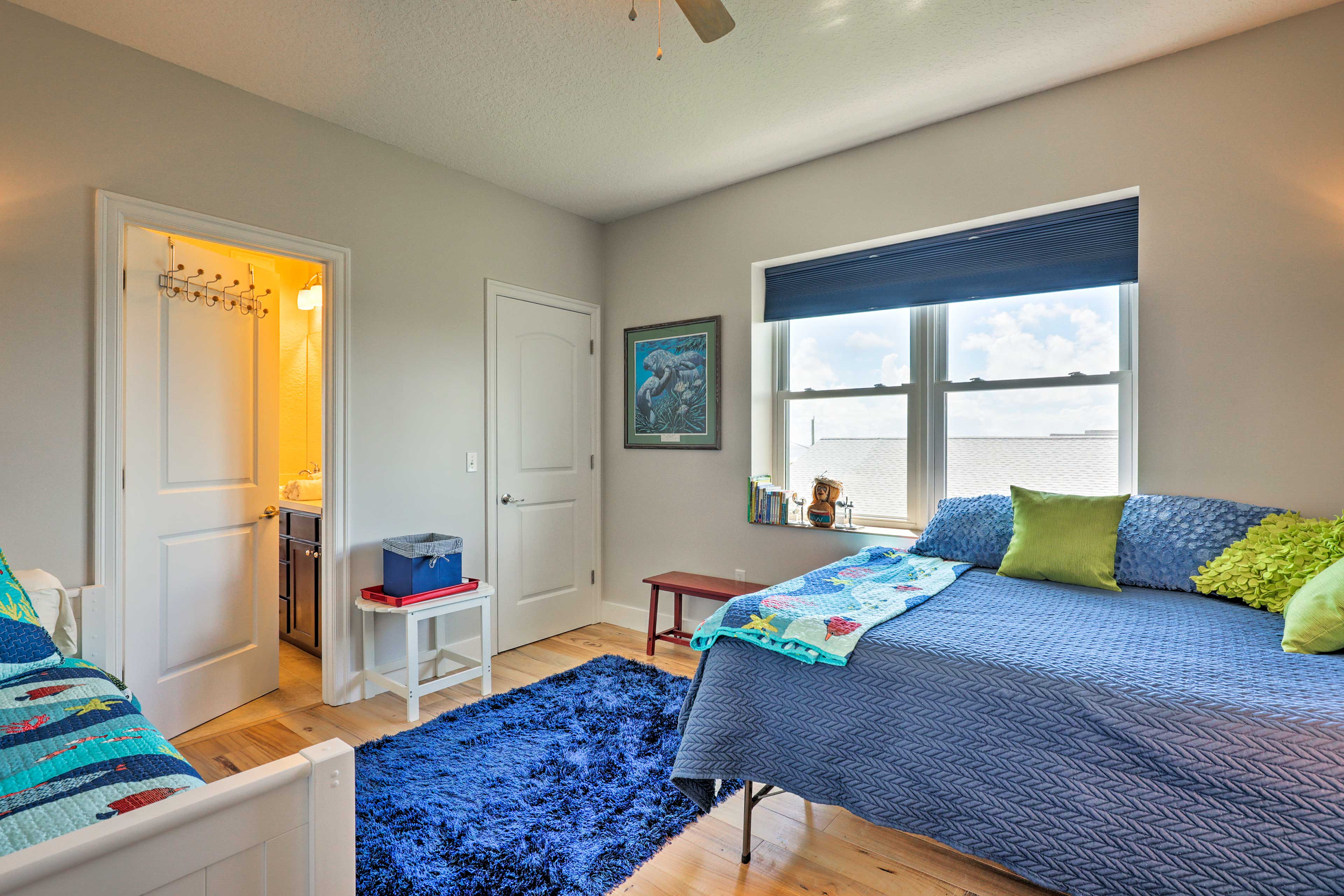 Kids are sure to love this bedroom.
