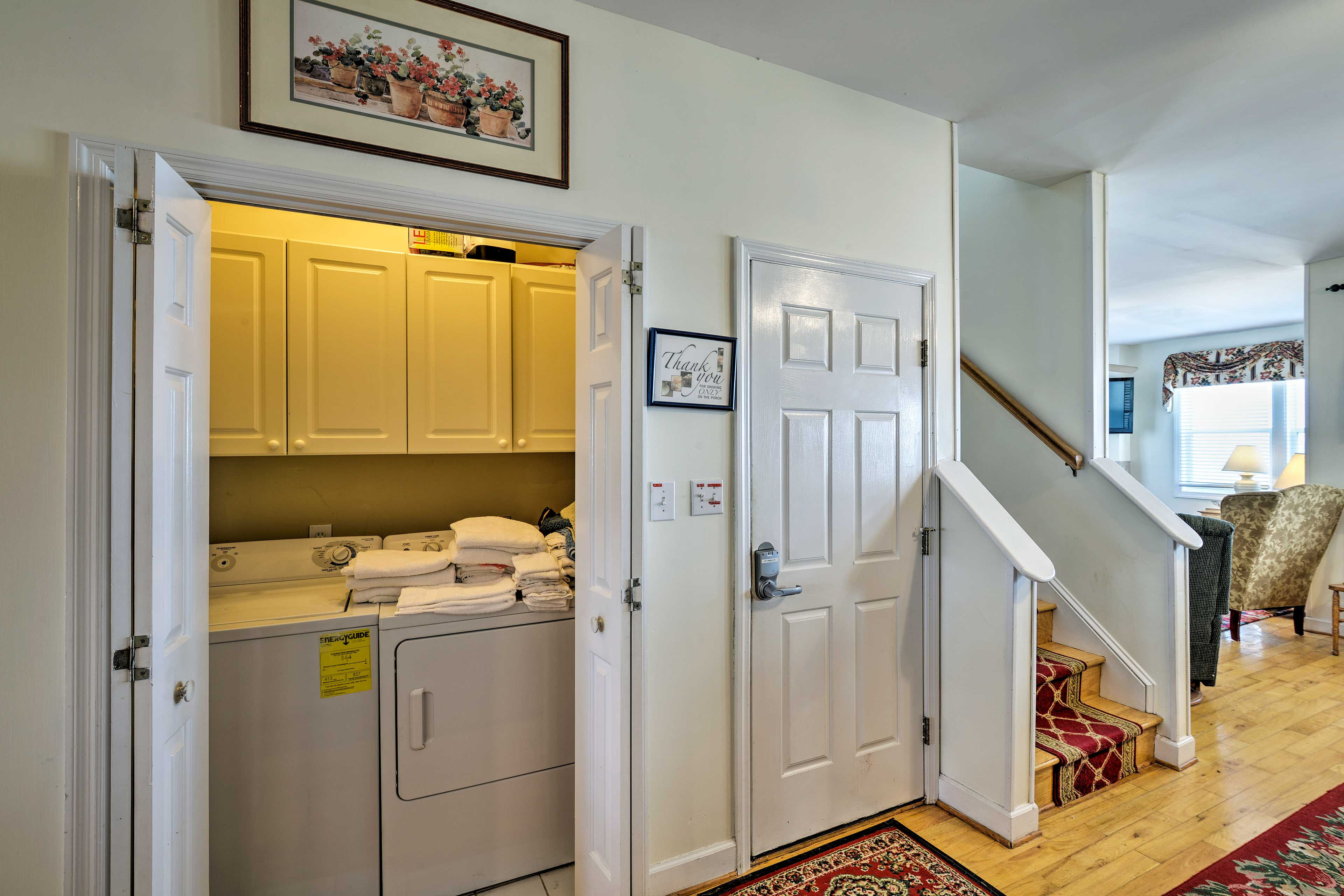 In-Unit Washer/Dryer   1st Floor   Laundry Detergent Provided
