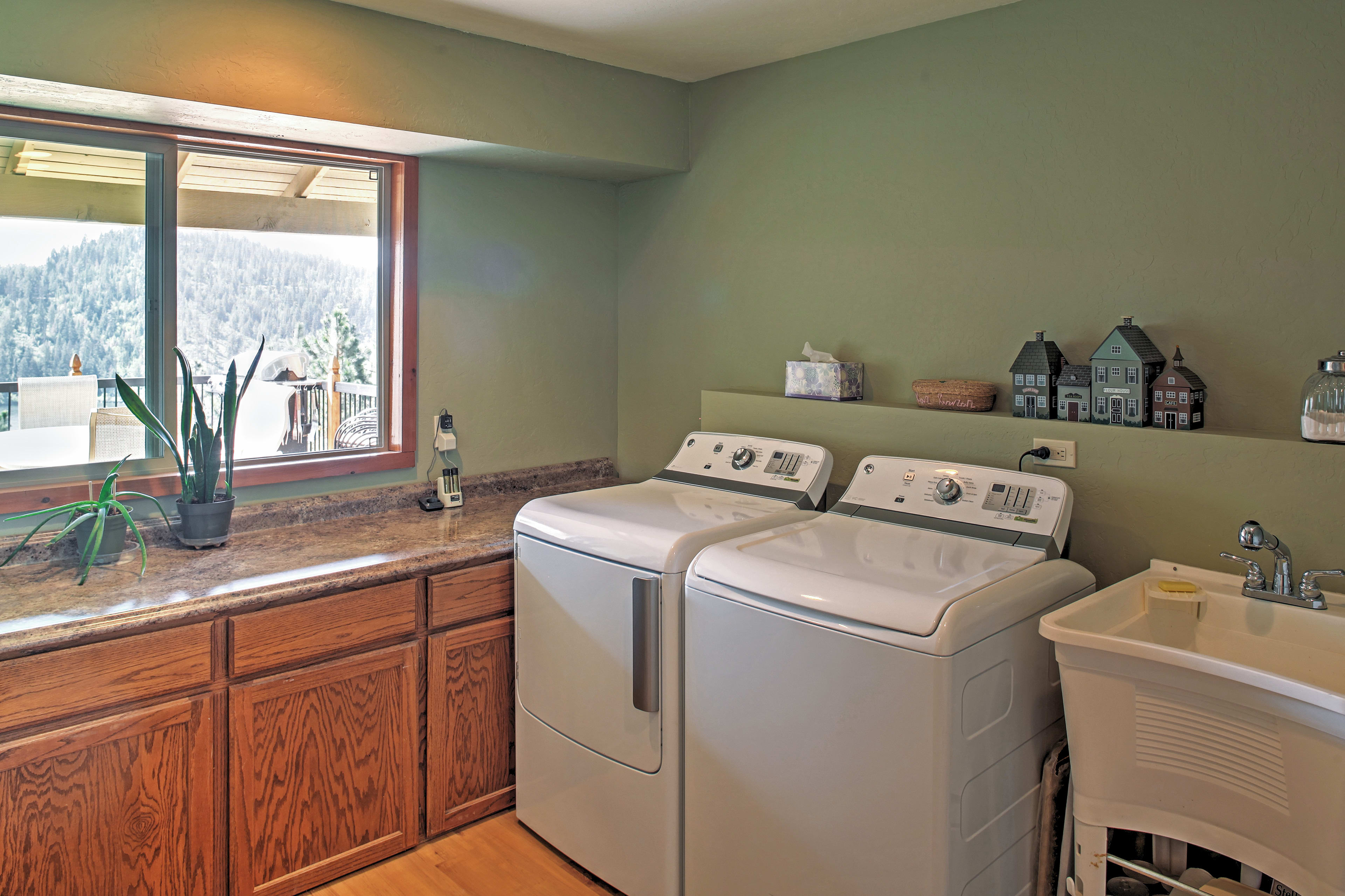 A washer and dryer are added for your convenience.