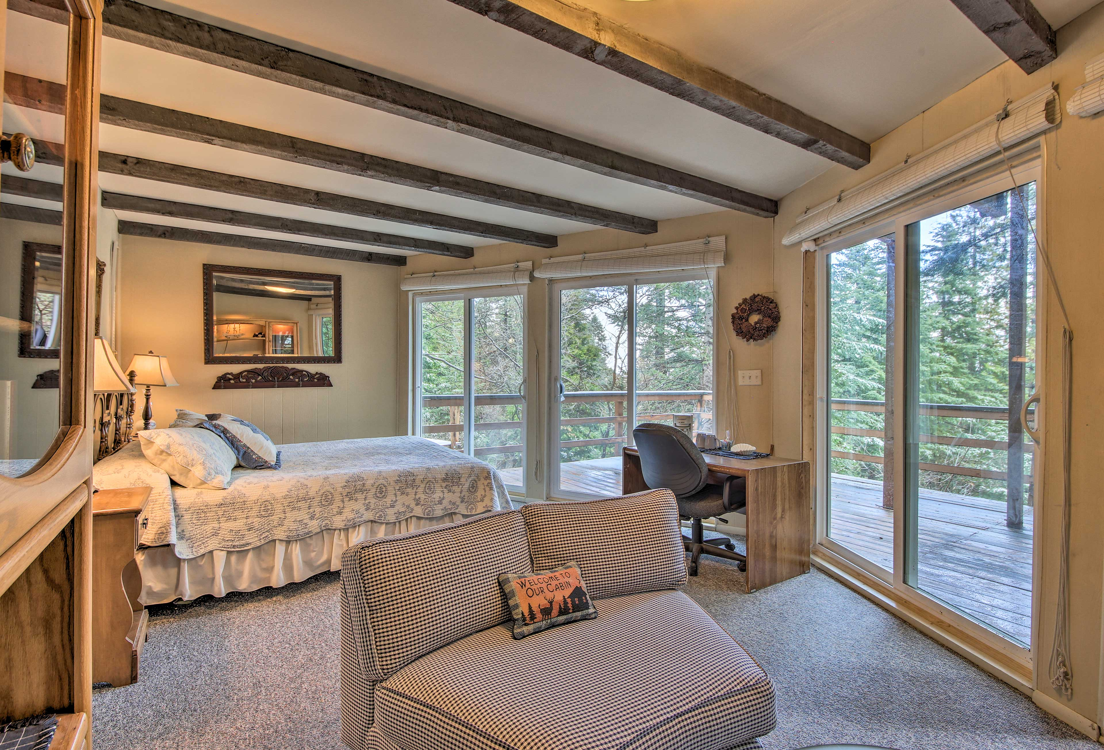 This separate room will comfortably accommodate 2 additional guests.