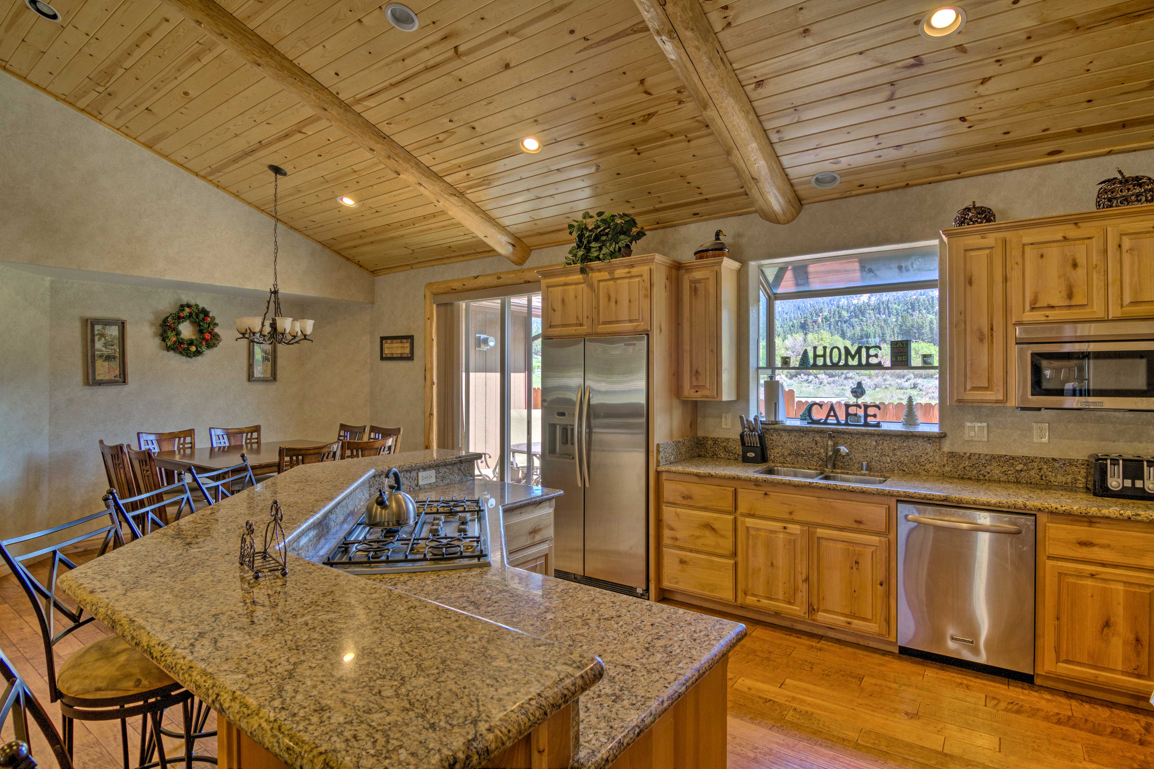 Prepare tasty home-cooked meals in the fully equipped kitchen.