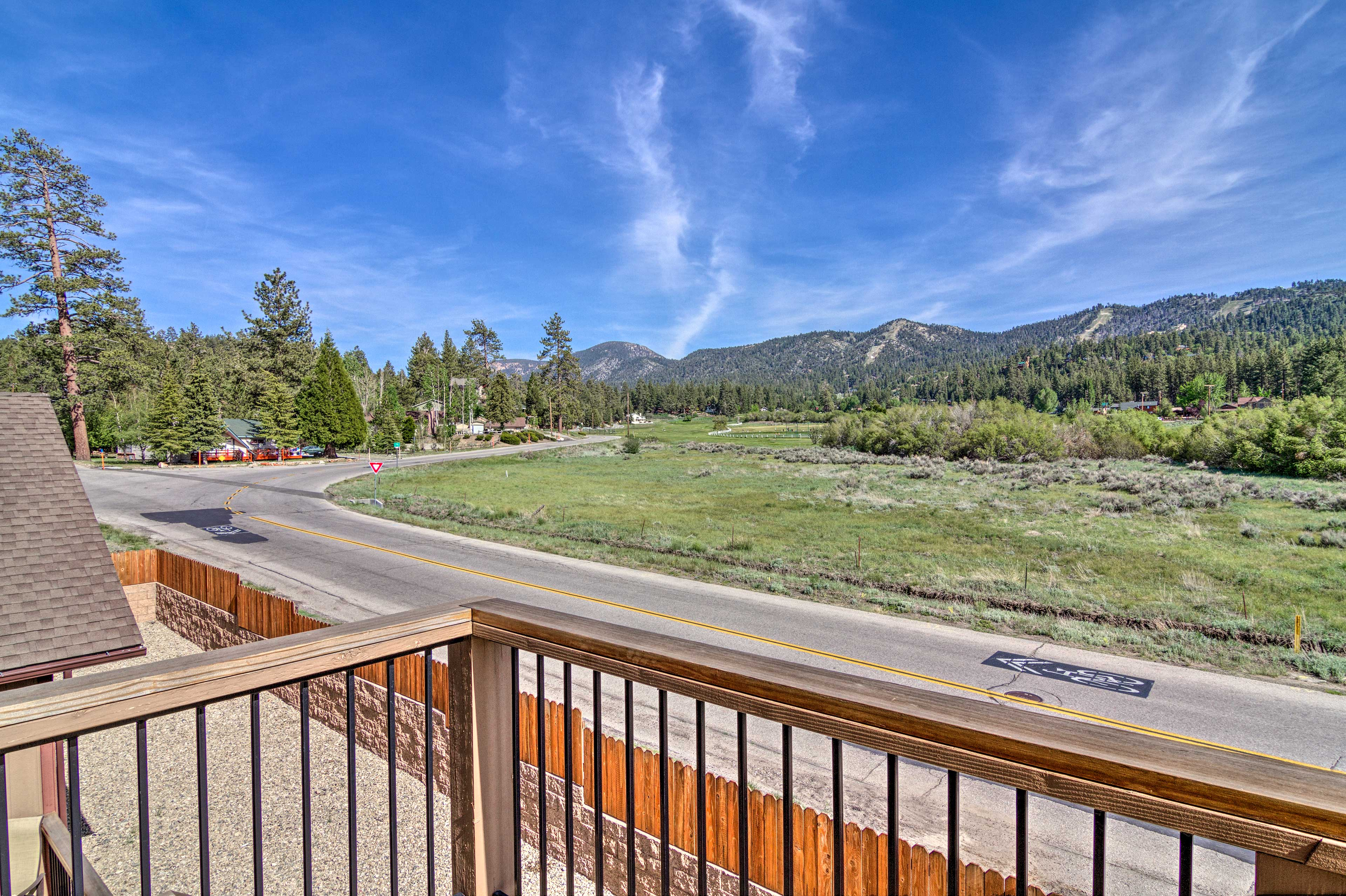 Enjoy mountain views from your balcony!