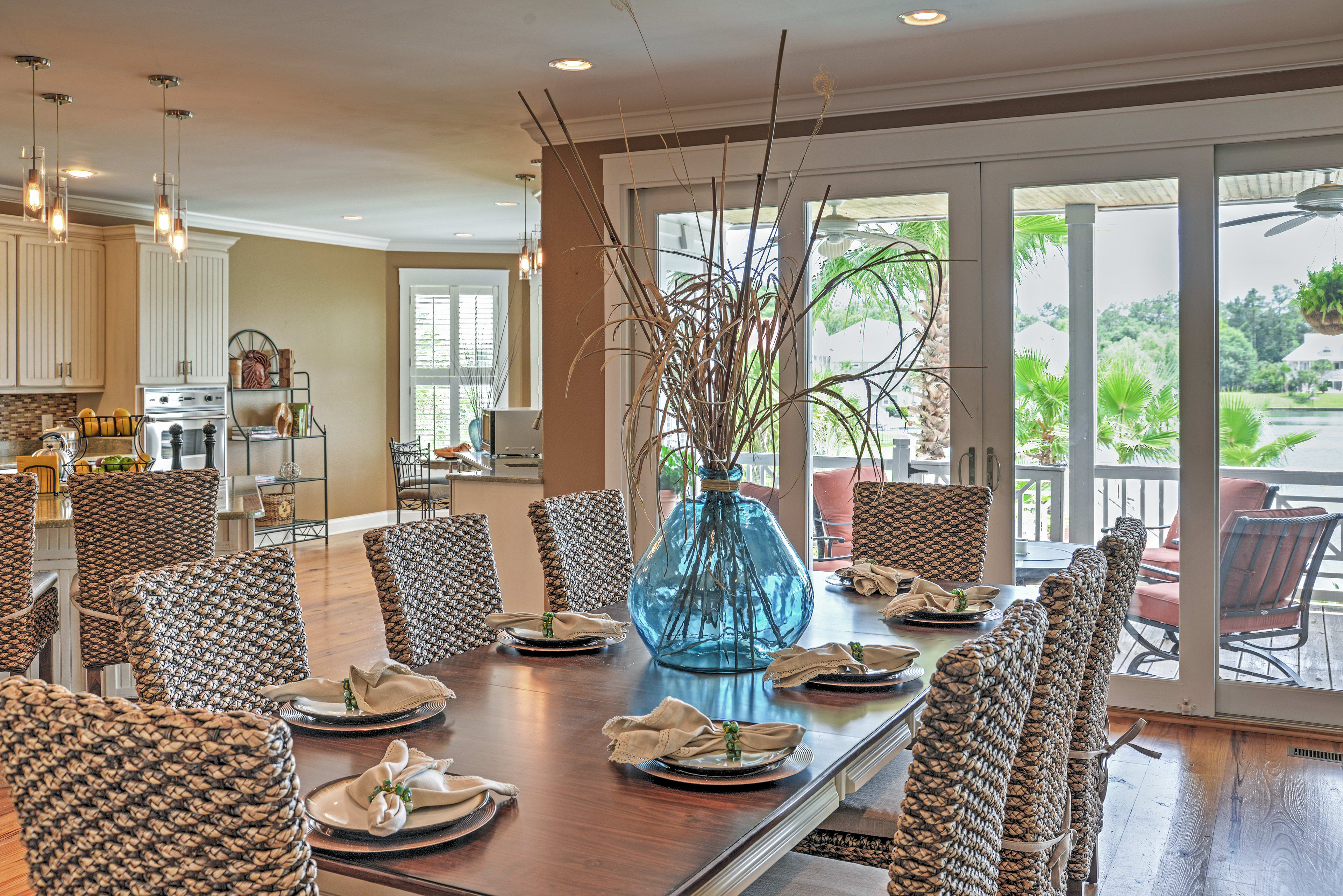 Special memories will be made at the magnificent dining room table.
