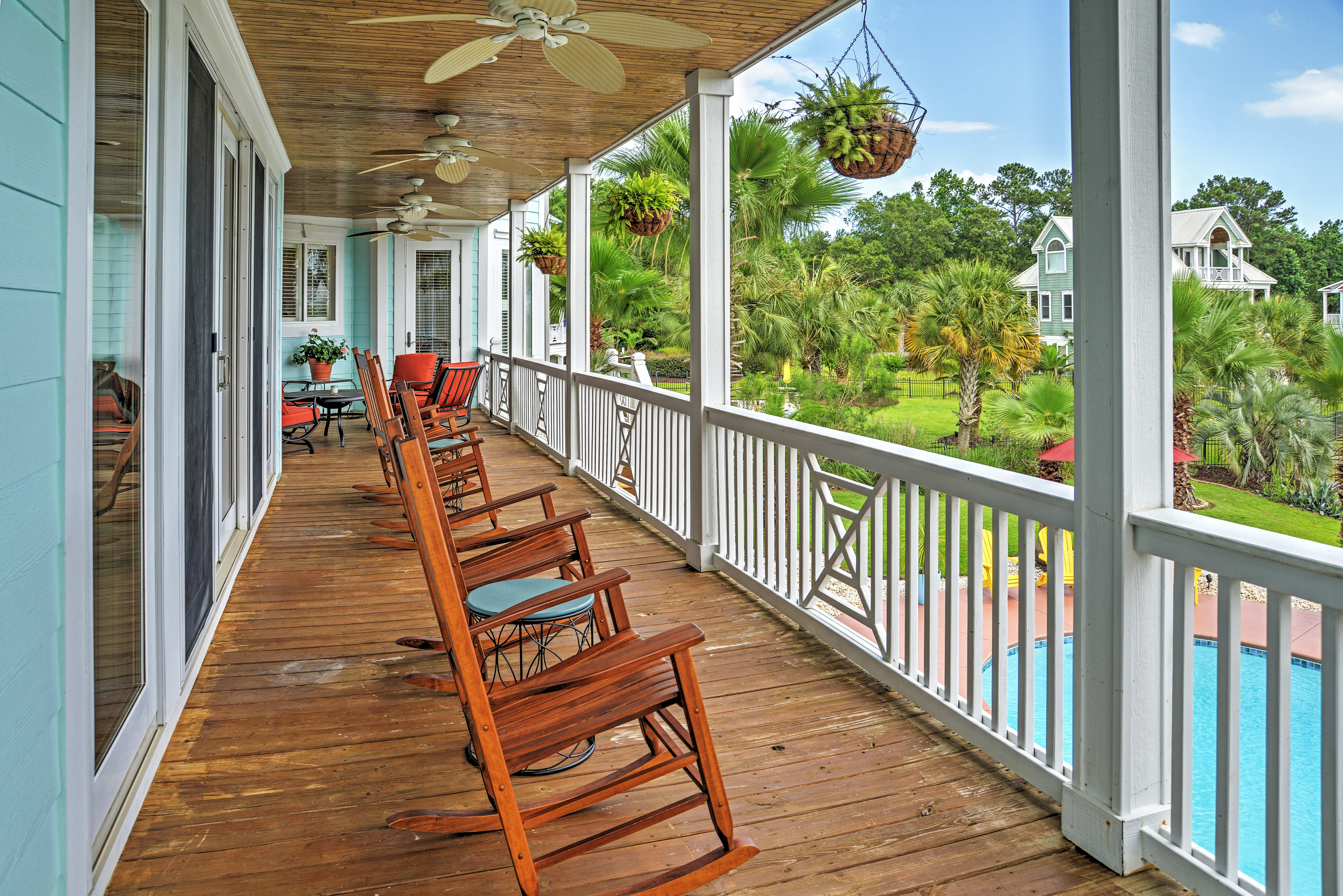 Admire sensational views from the private balcony!