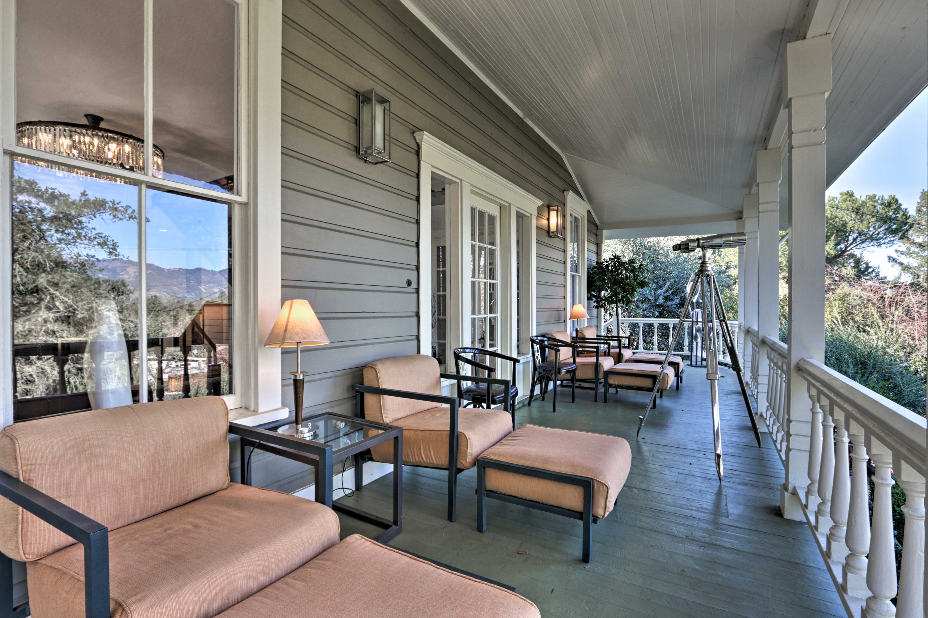 Enjoy your morning coffee on the spacious deck.