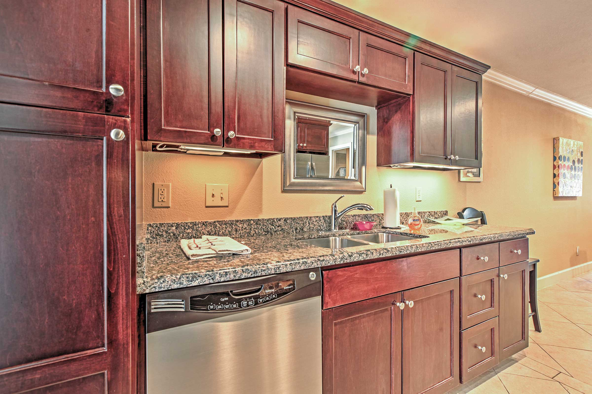 Prepare a culinary treat in the fully equipped kitchen.