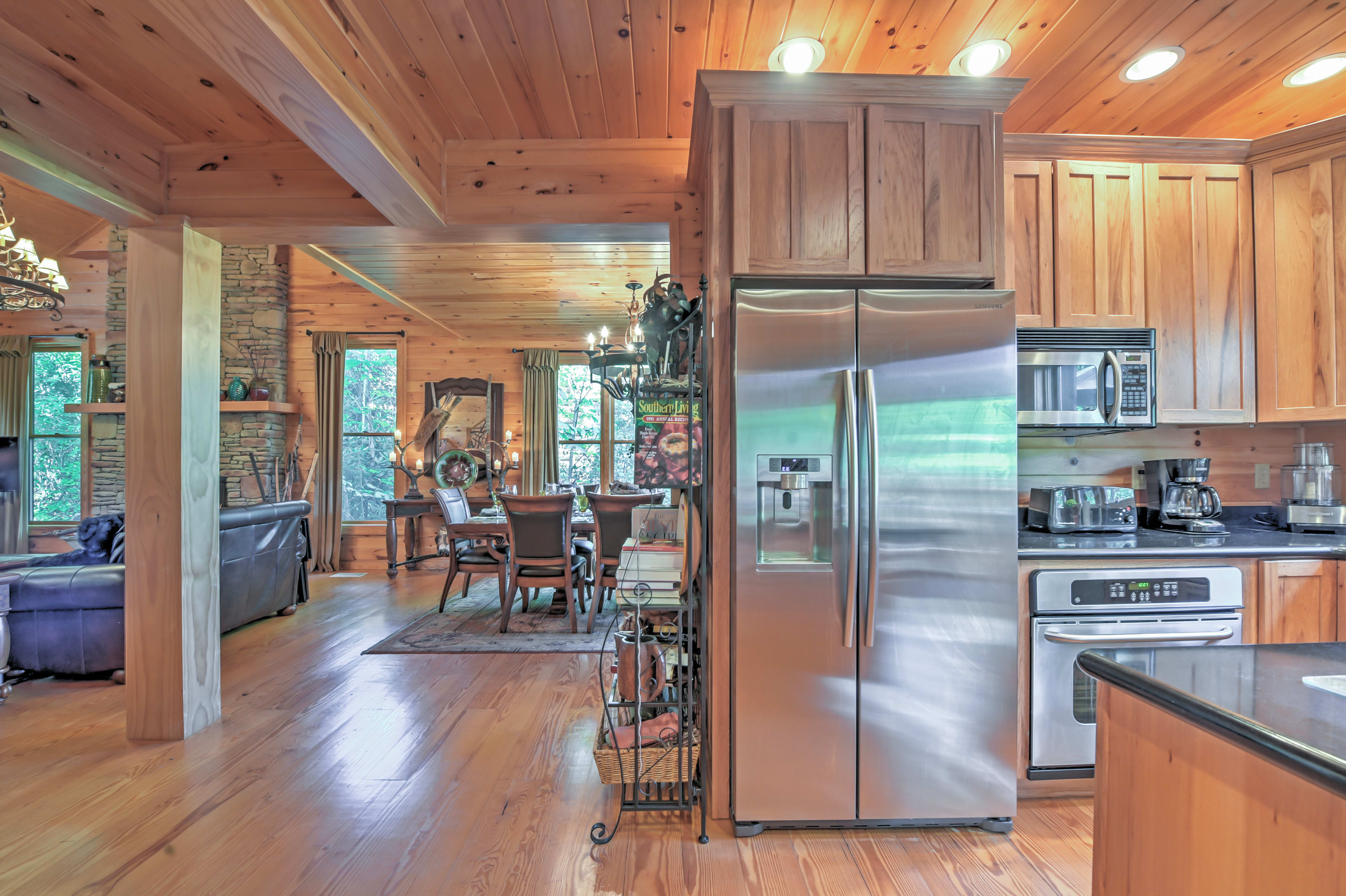You'll love the home's stainless steel appliances.