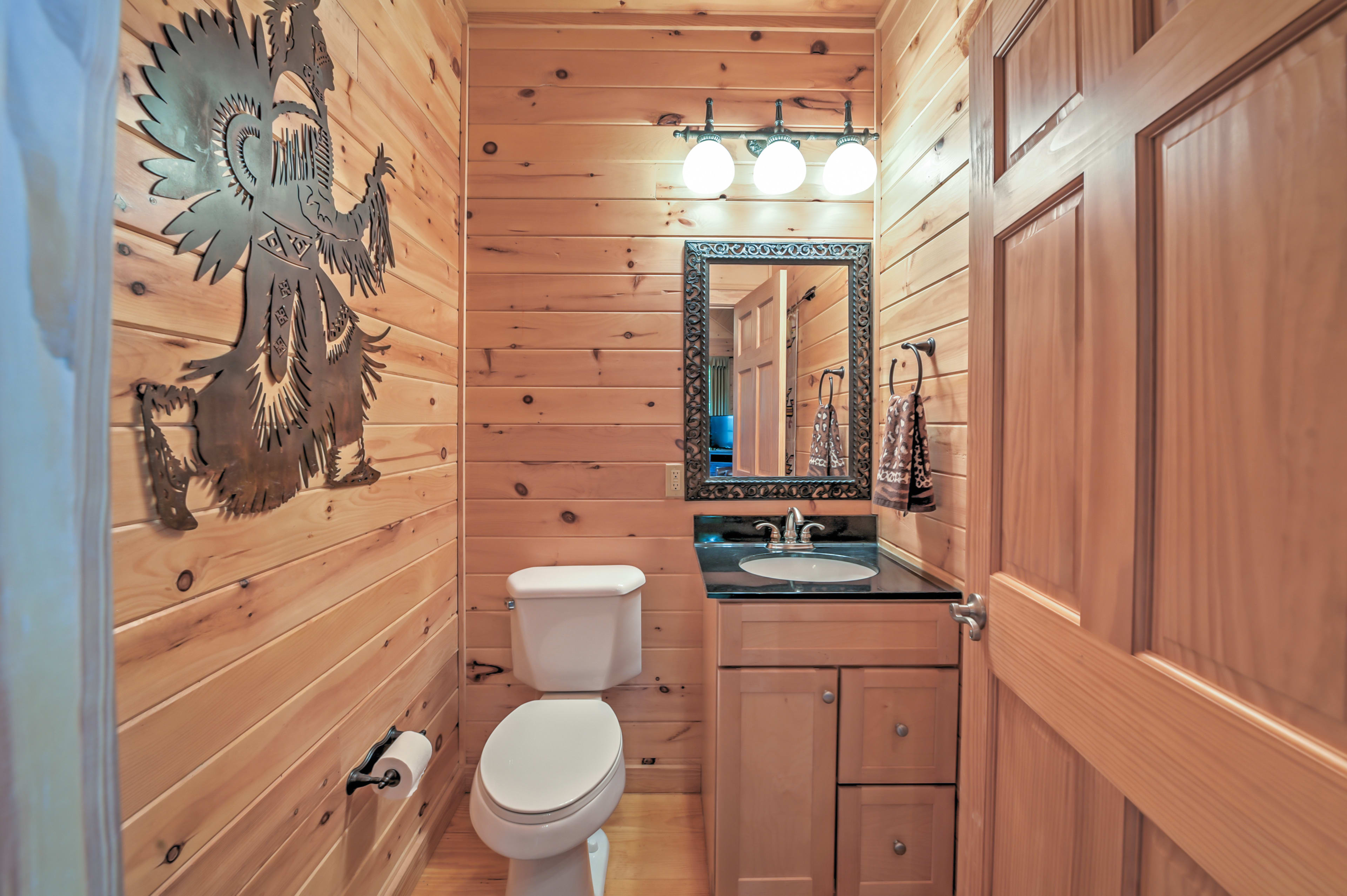 Wash up for dinner in this powder room.