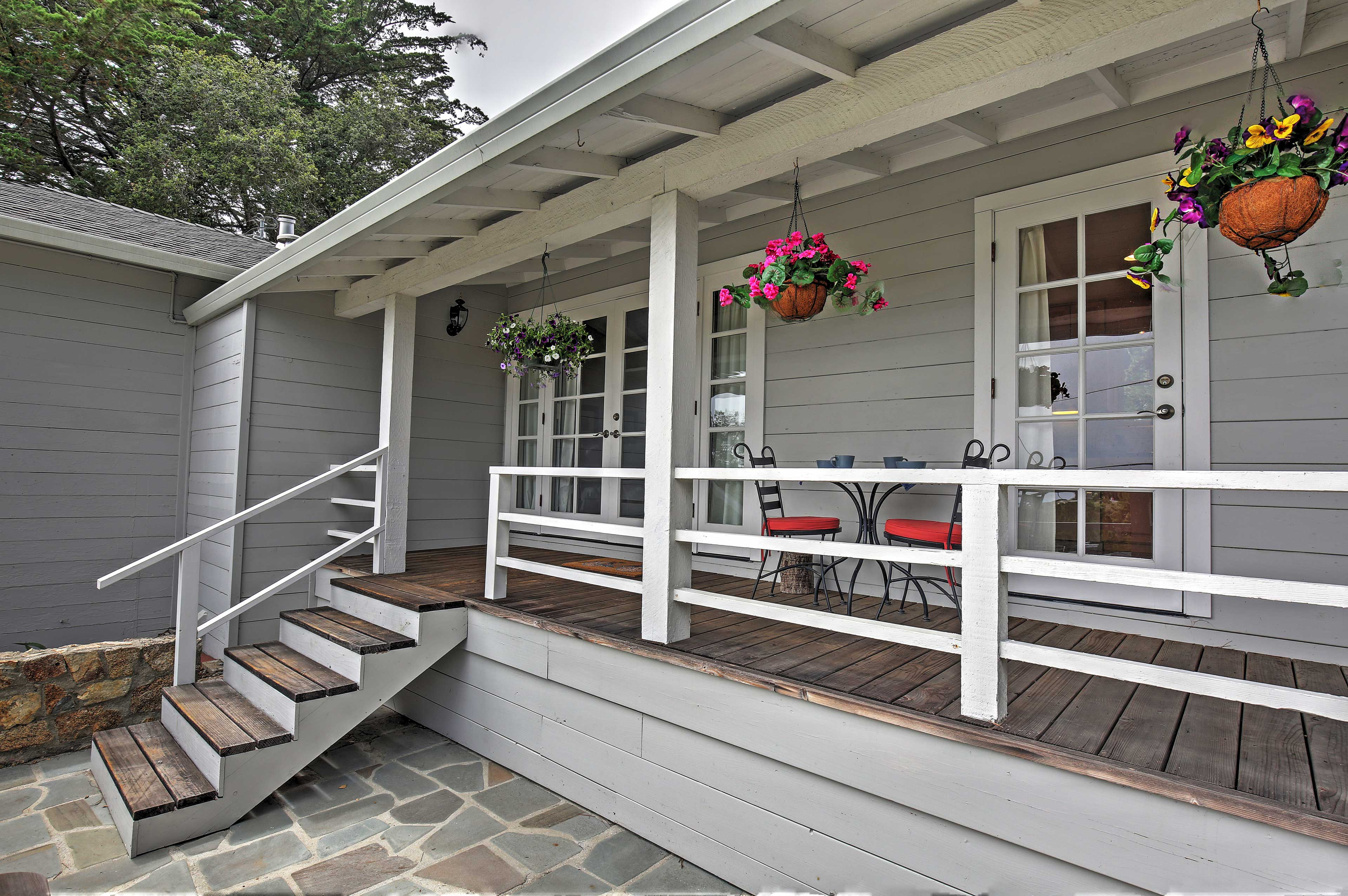 The breezy covered porch will quickly become your favorite place to unwind.