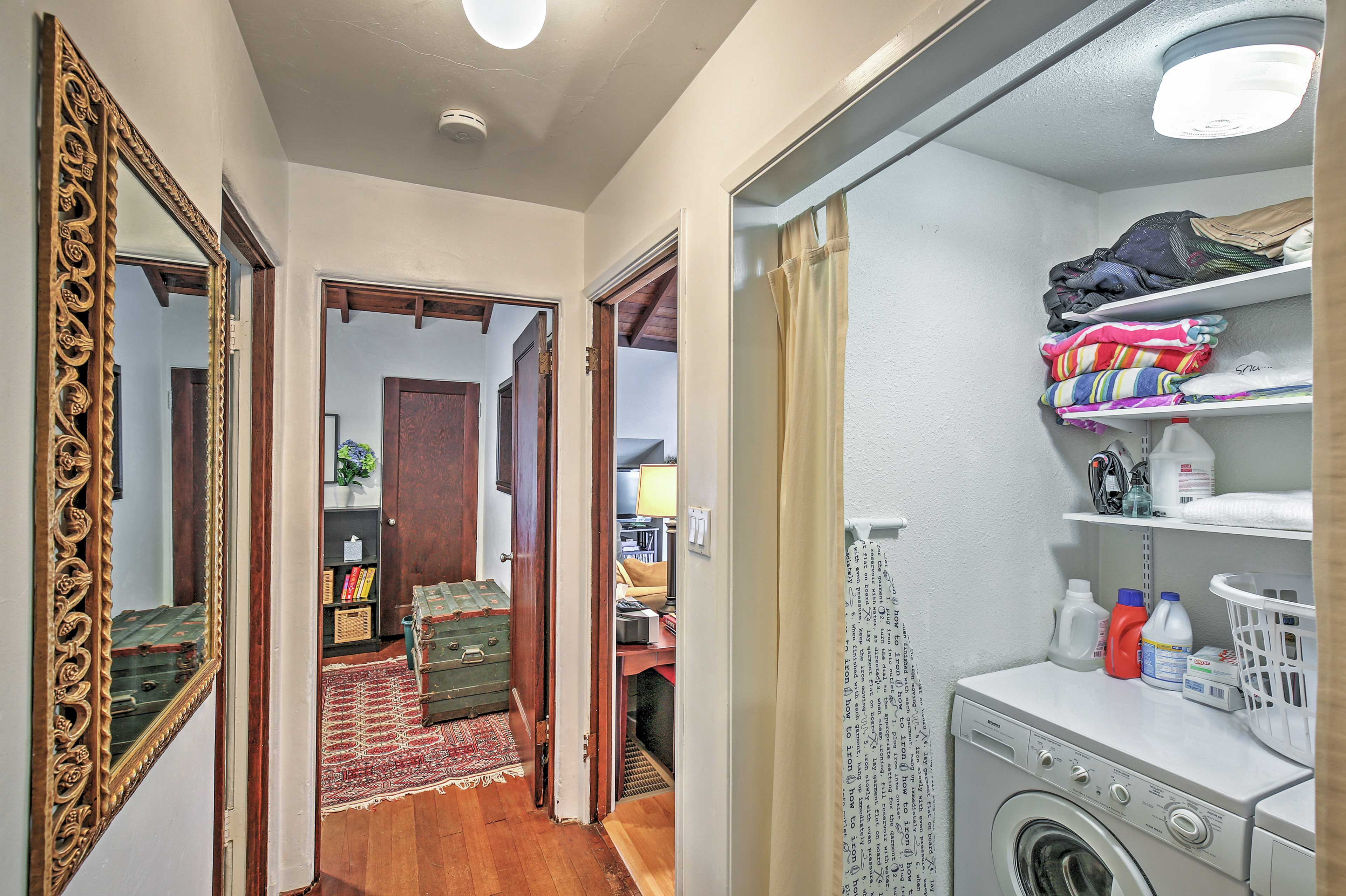 In-unit laundry machines provided for your convenience.
