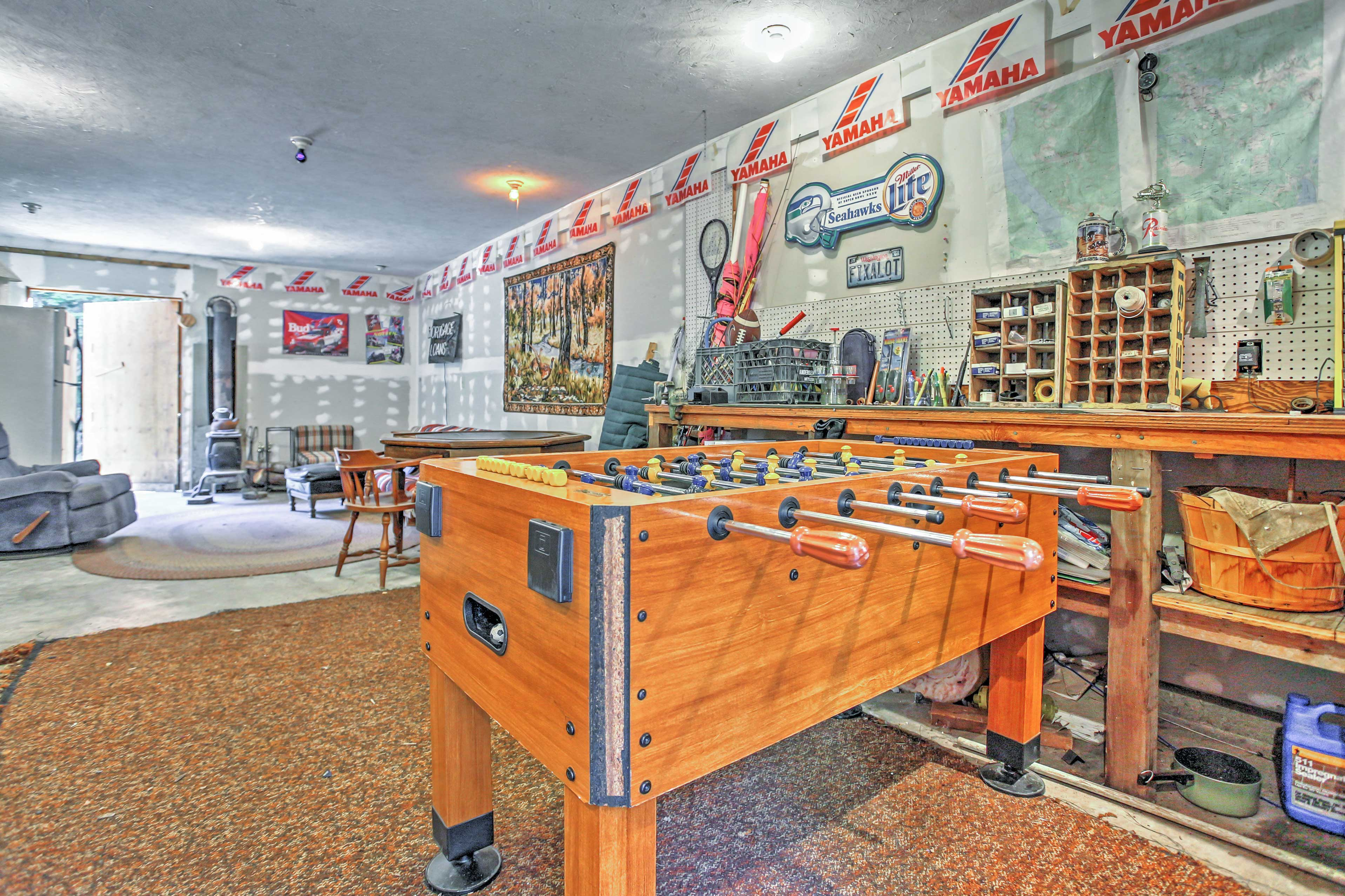 Challenge your pals to a game of foosball in the gaming area!
