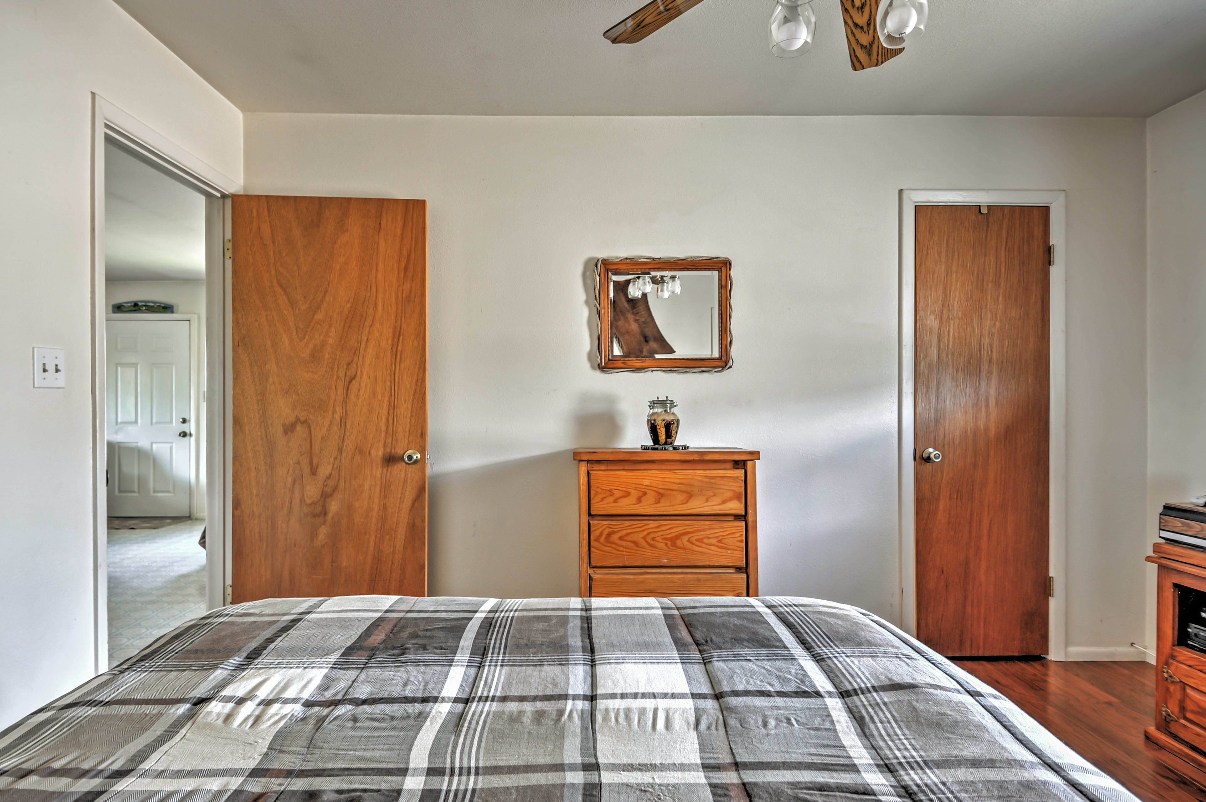Your welcoming bedroom awaits for a peaceful night's sleep!