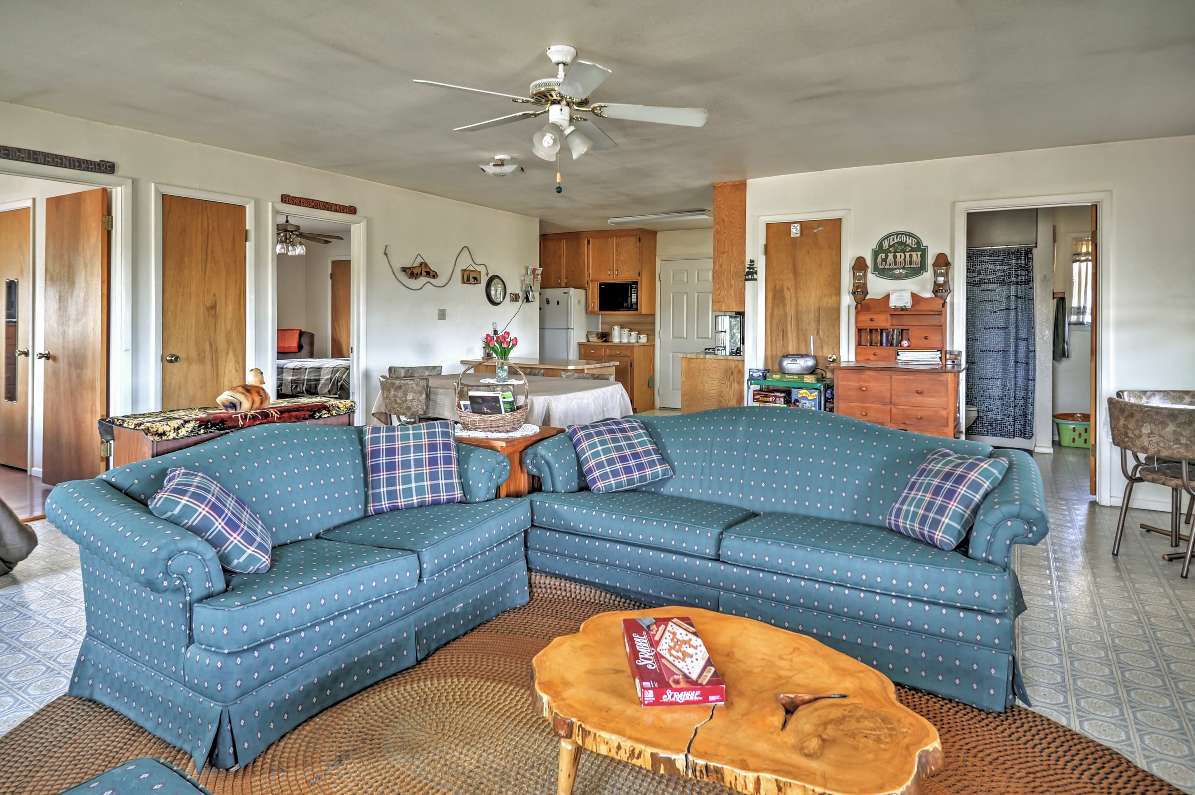 Watch your favorite television shows on the cable TV located in this living area.