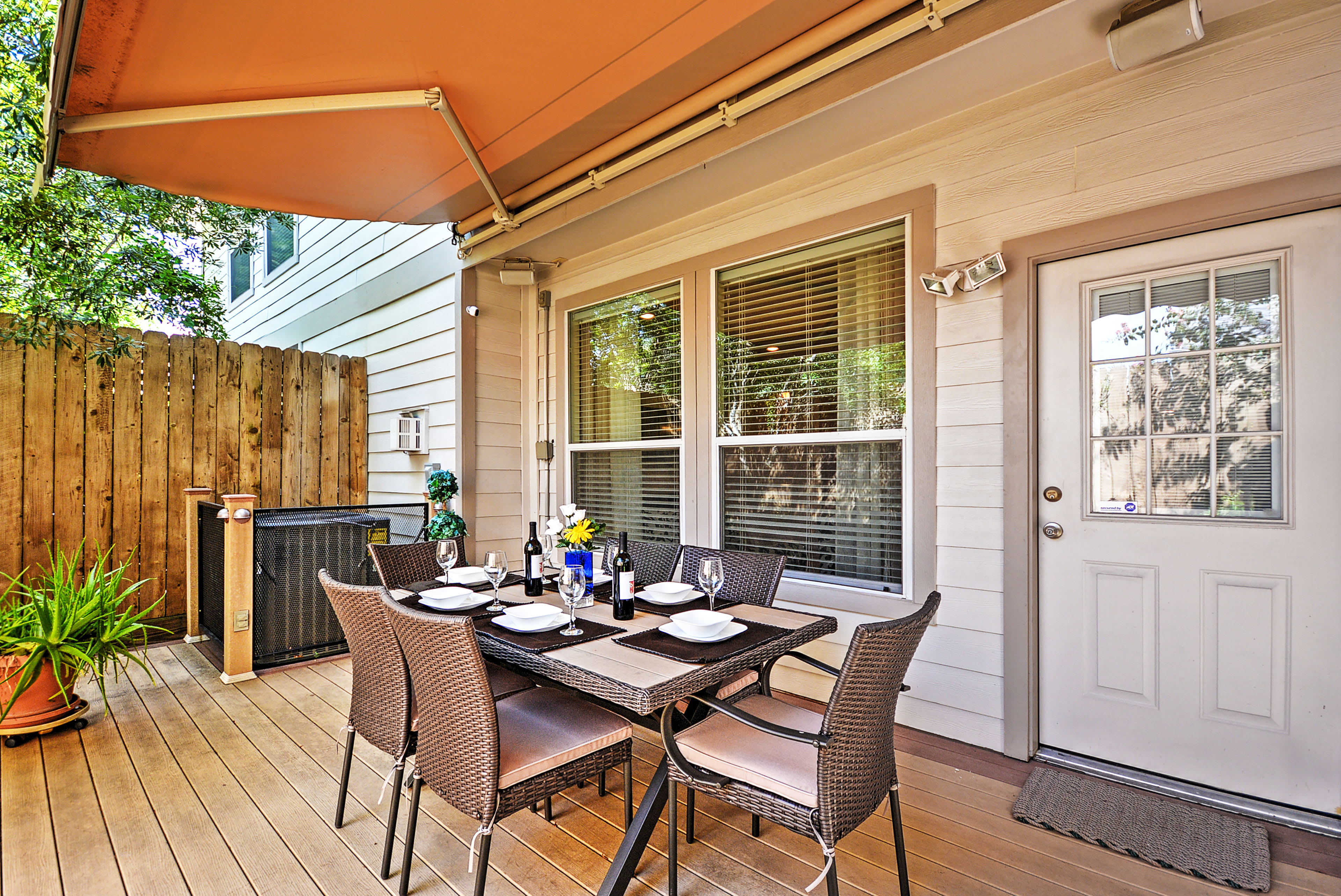 In addition to the spacious interior, there is also a great outdoor space!
