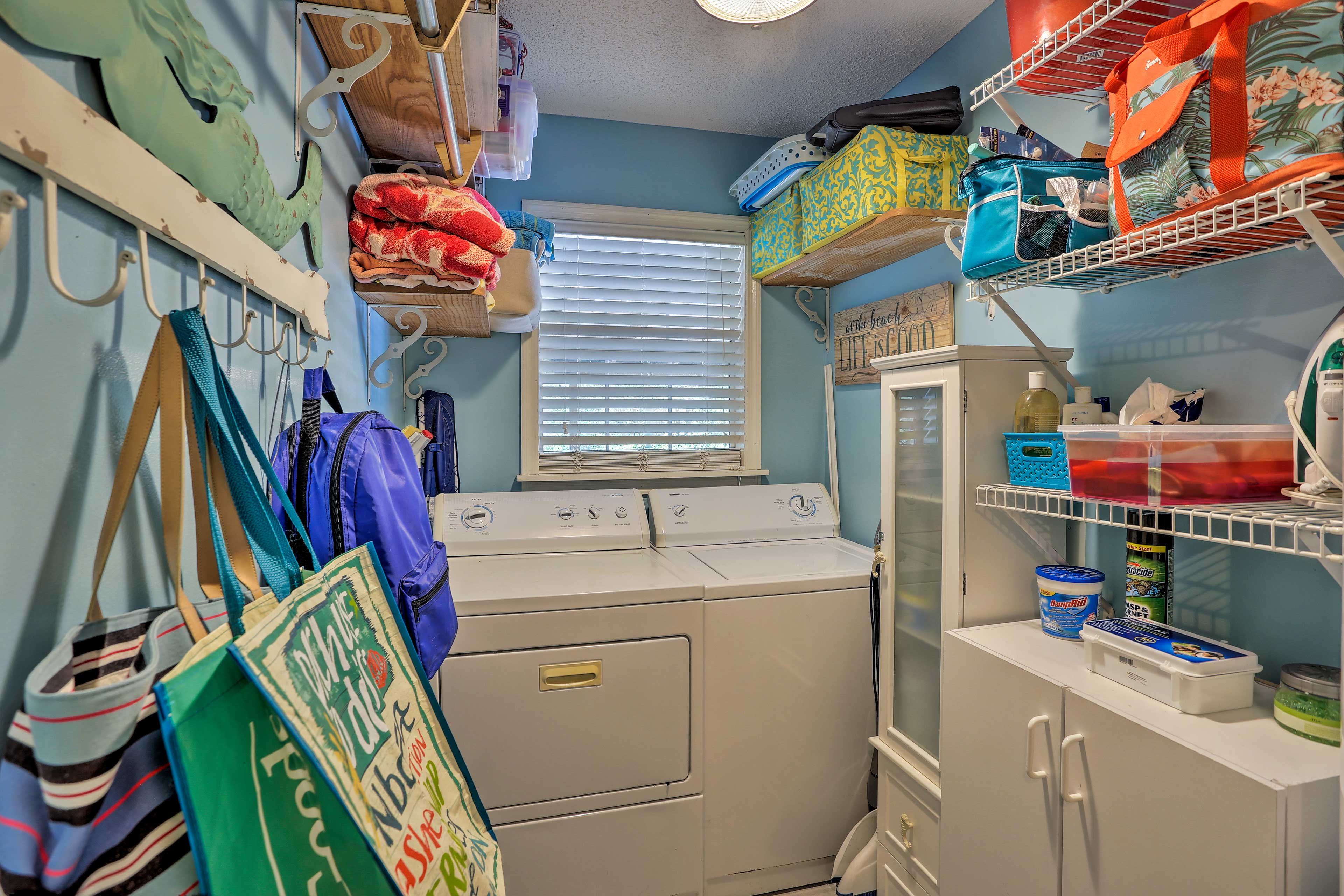 In-unit laundry machines add convenience to your stay.