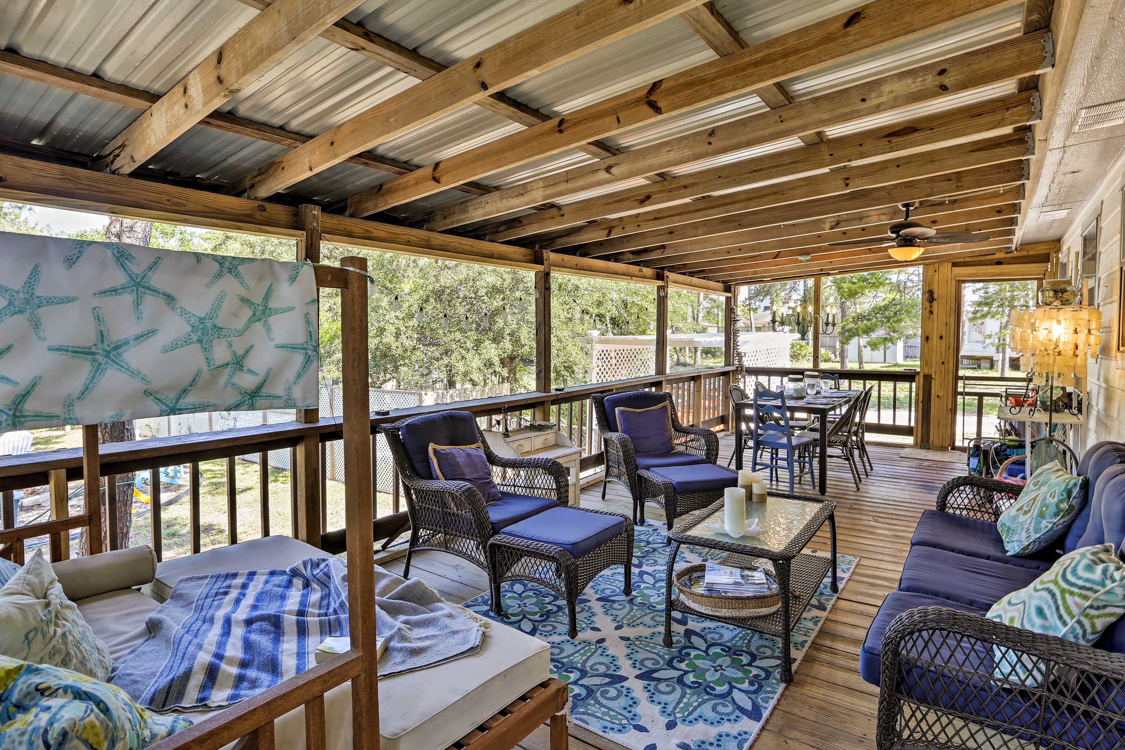 Lounge on the patio and enjoy the breeze.