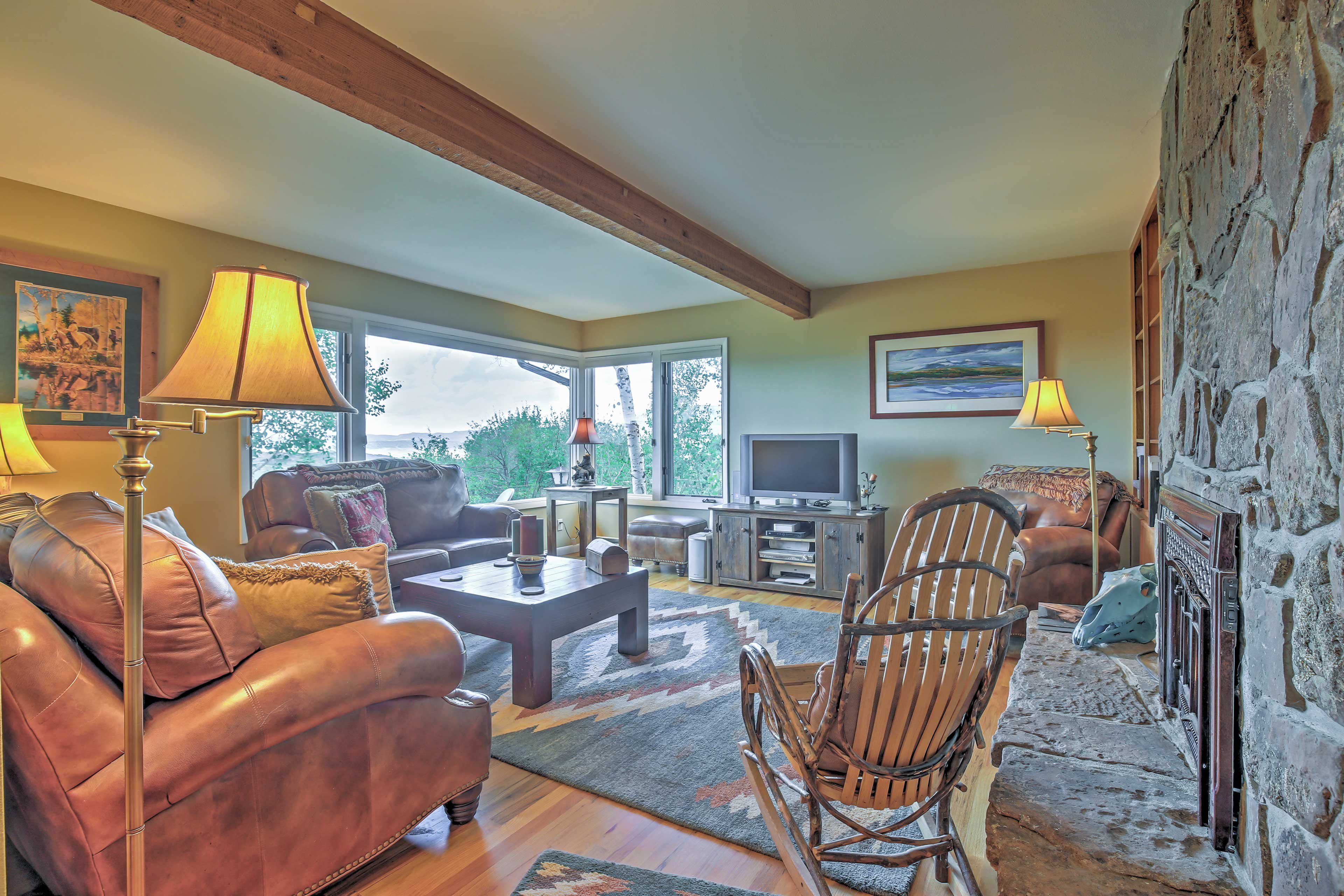 Unwind in the spacious living room.