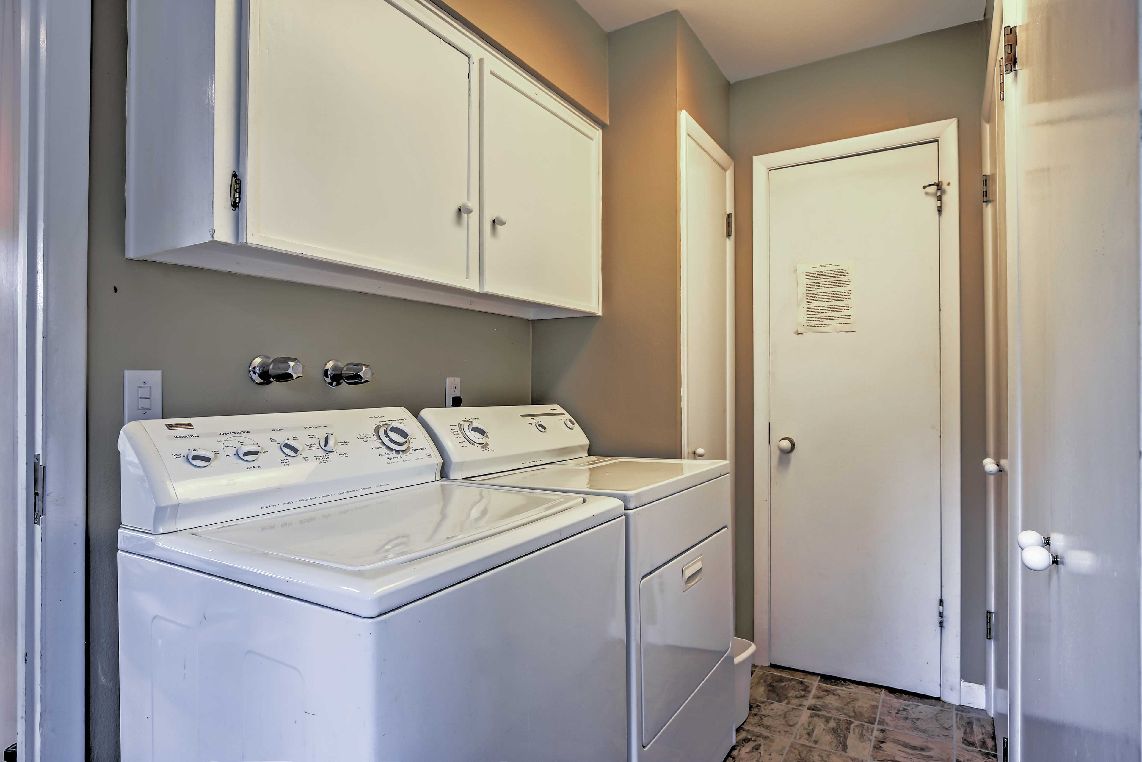 Laundry machines are included for your convenience.