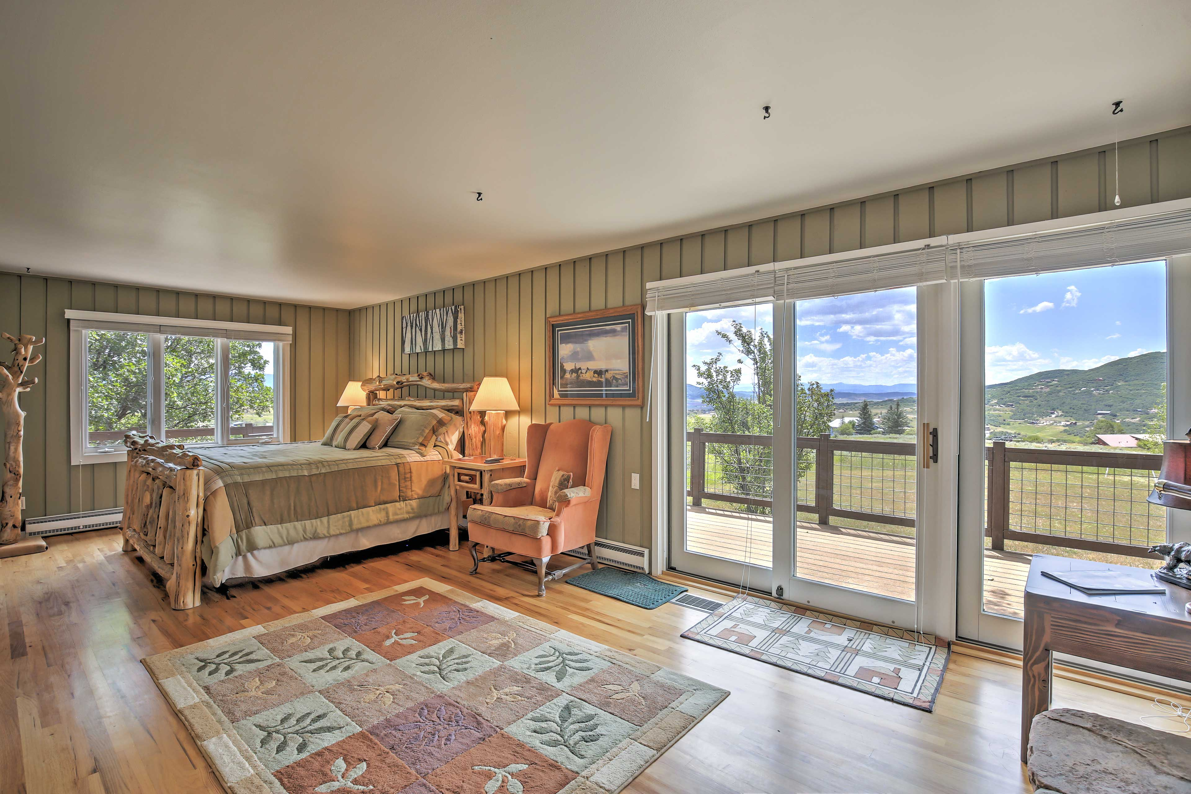 Expansive views greet you in the master bedroom.