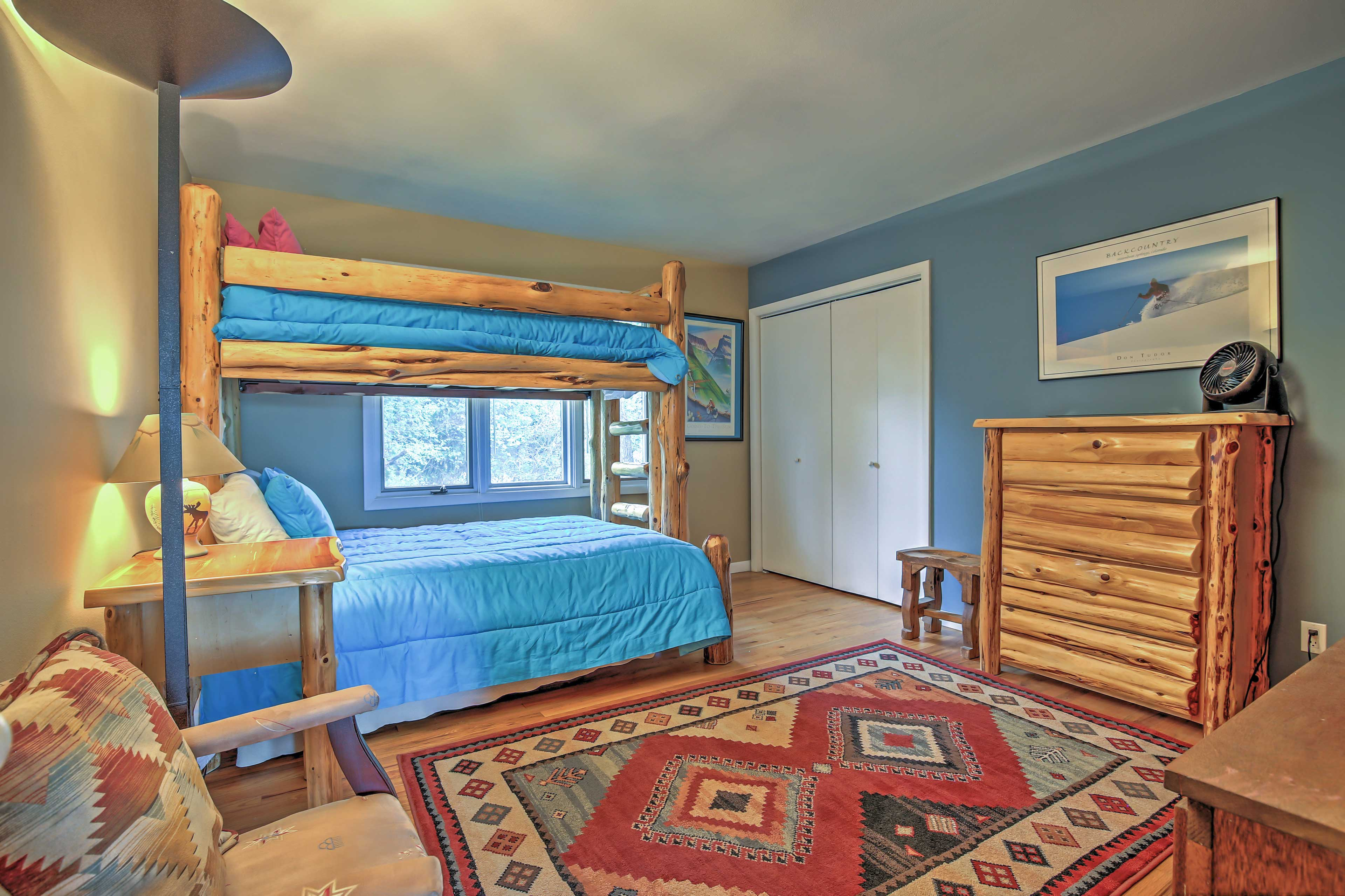 The kids will love this bunk room.