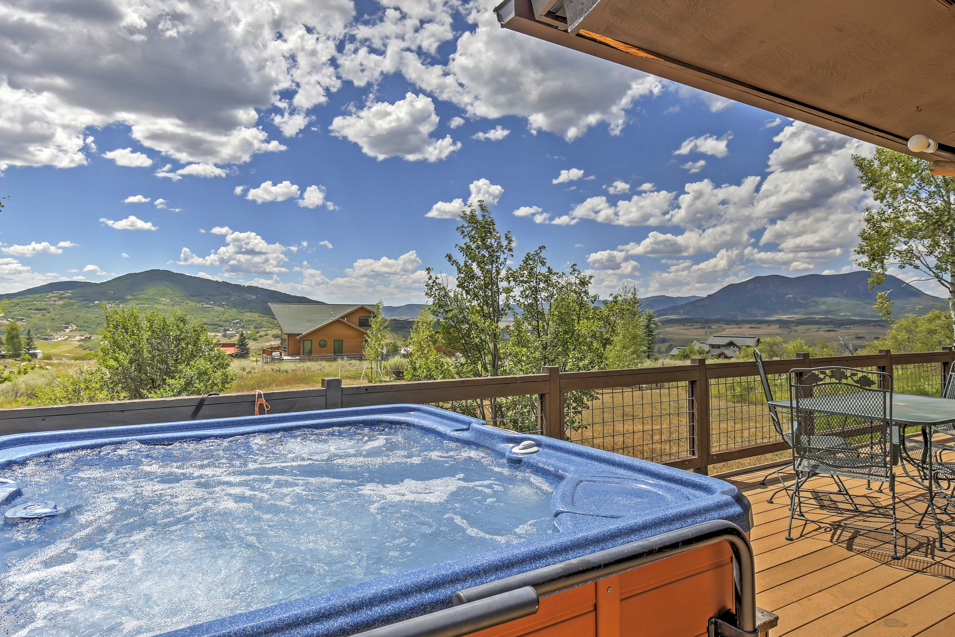 Take in views from the private hot tub of this Steamboat Springs home!