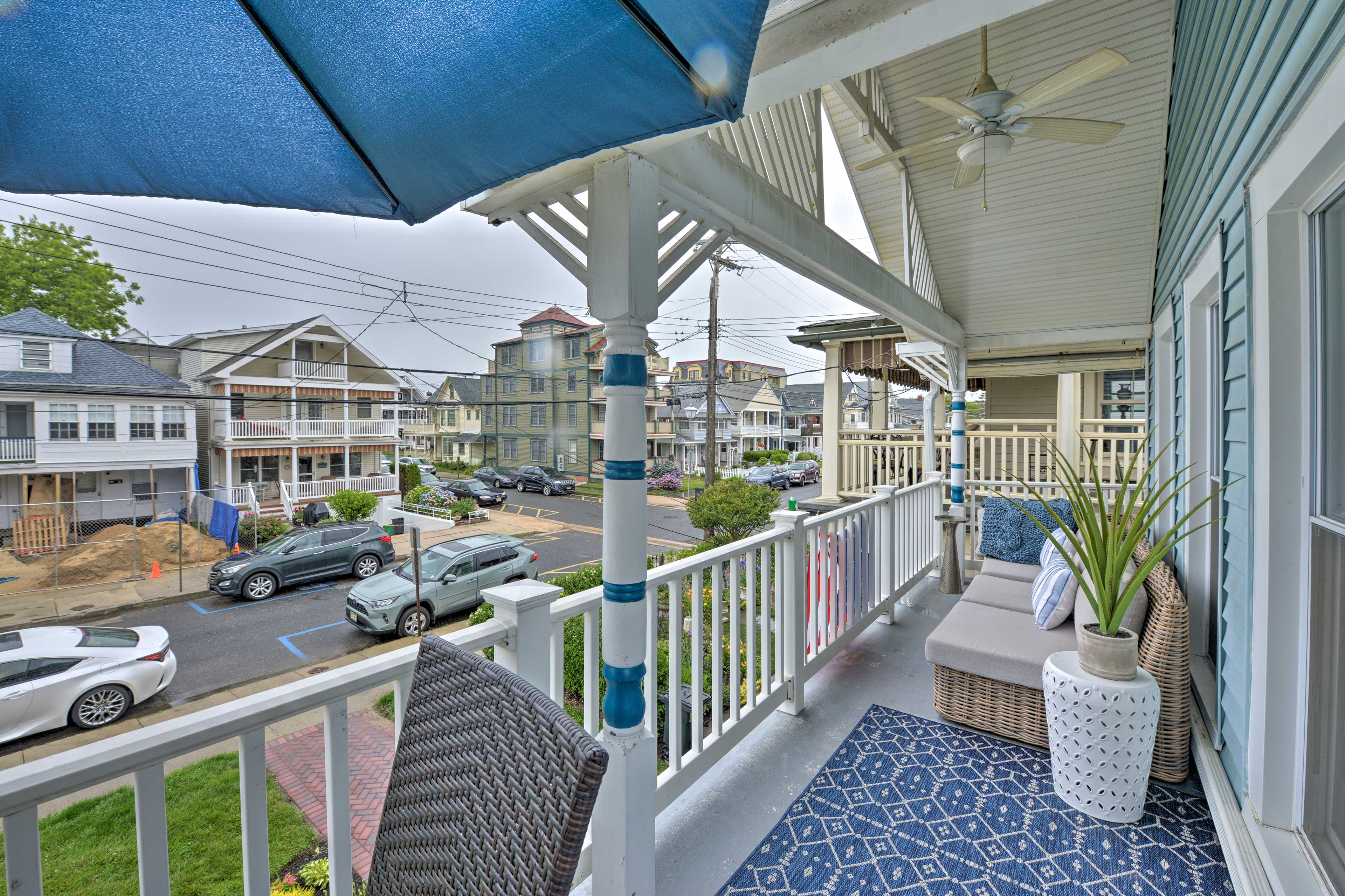 Furnished Balcony | Ceiling Fans | Outdoor Furniture