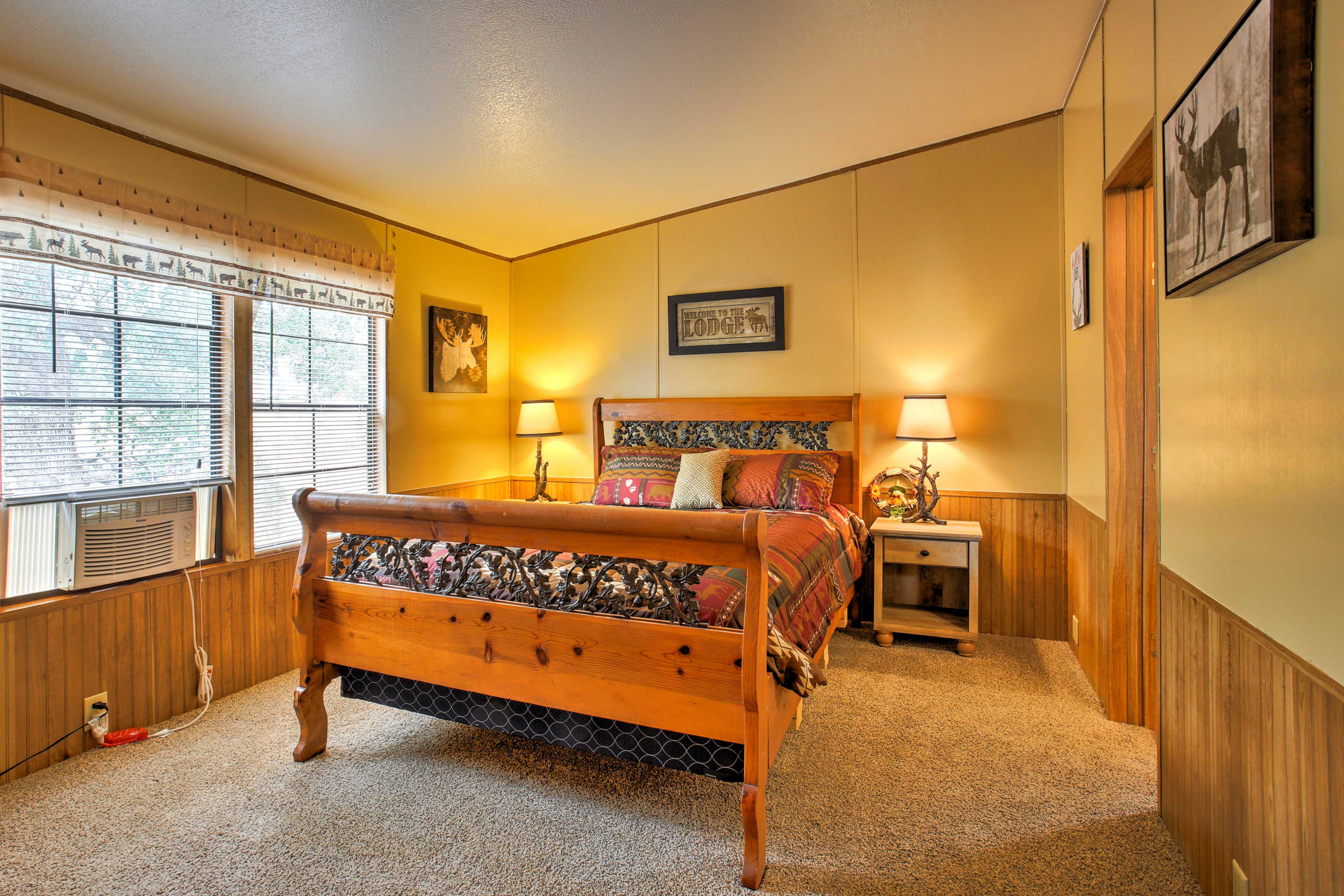 After a full day of outdoor activities, you're sure to fall fast asleep on one of the super comfortable beds.