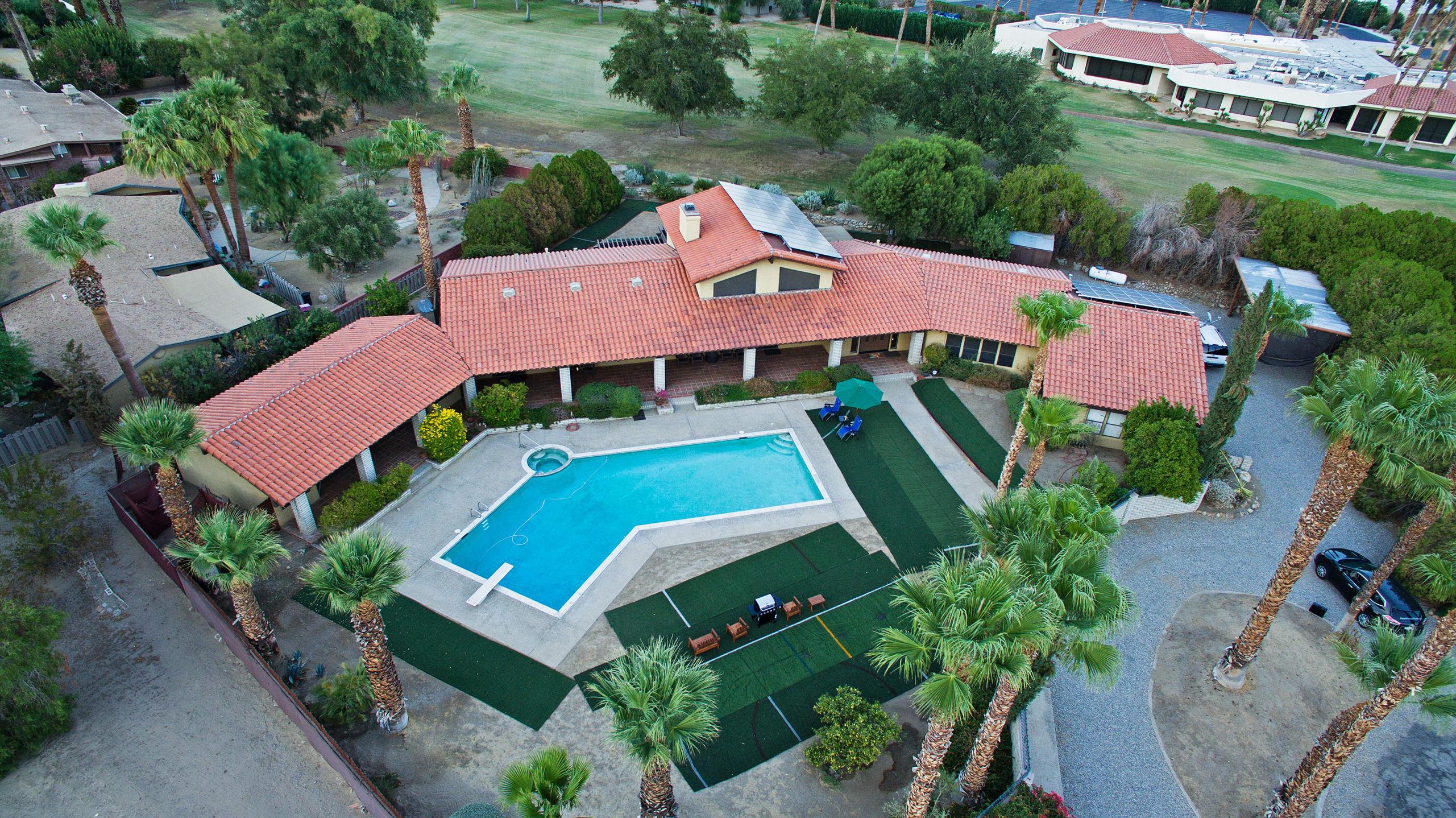 This 5-bedroom, 5-bath vacation rental house is in De Anza Golf Estates!