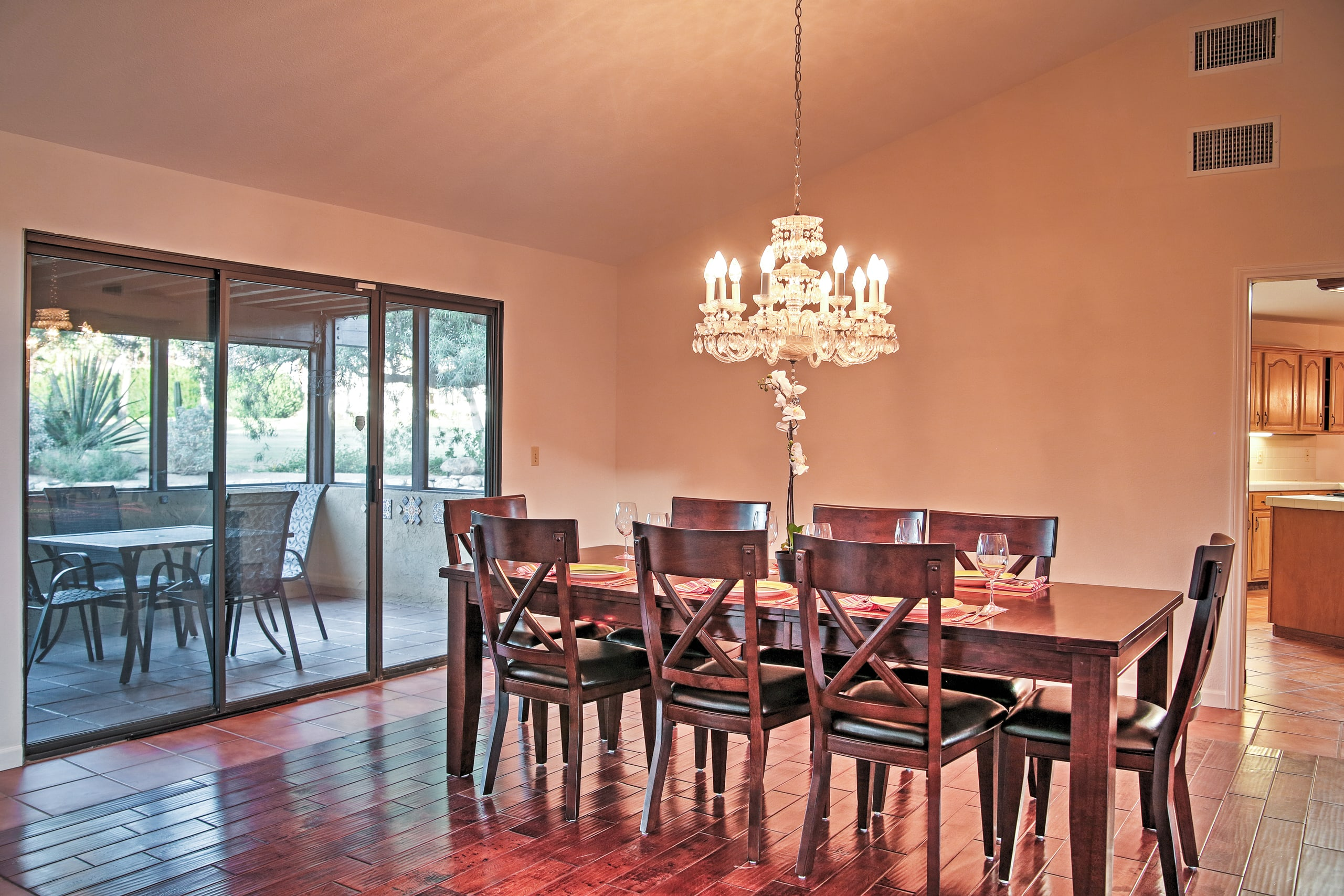 You'll love sharing food and stories in the dining area.