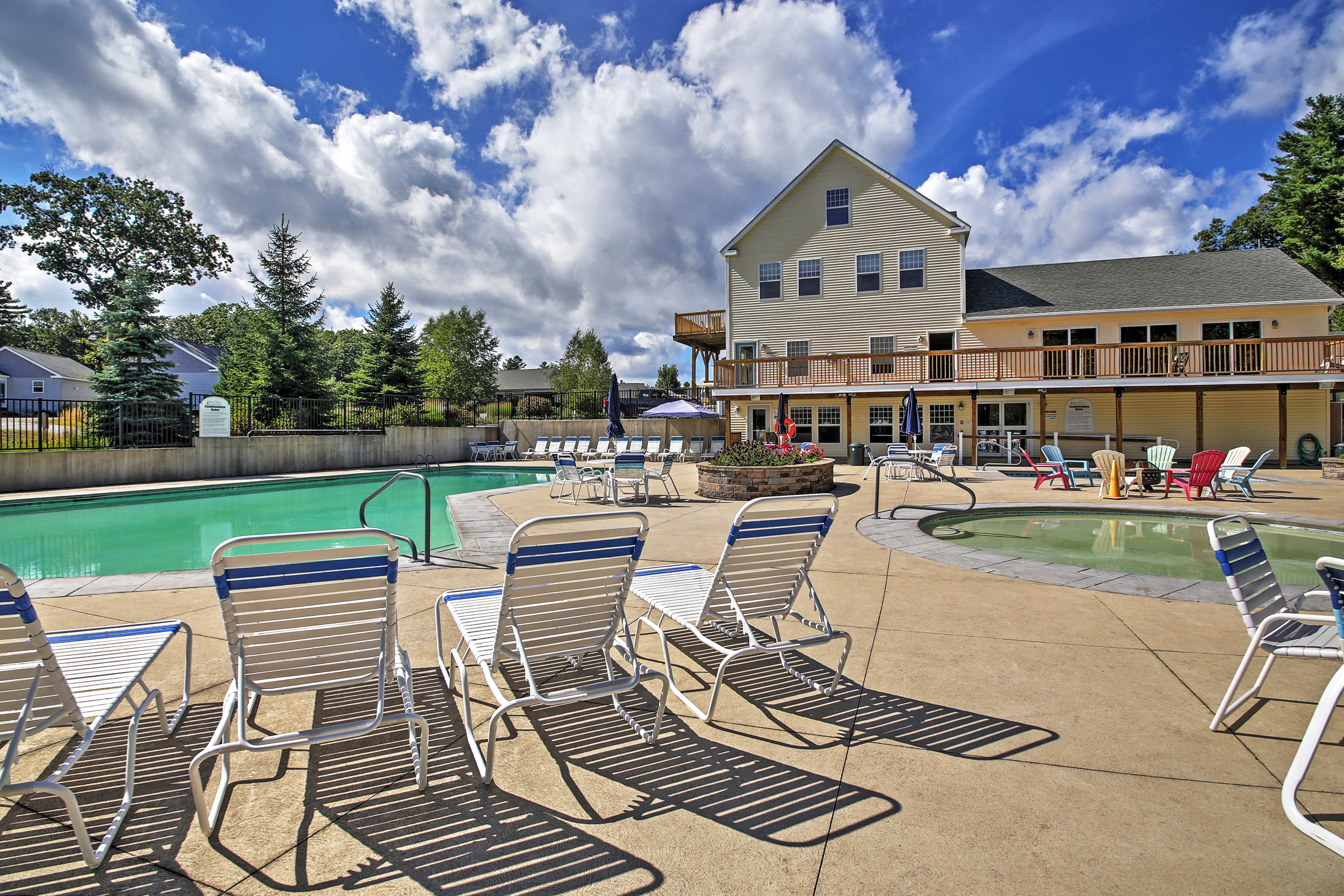 Take a dip in the community pool.