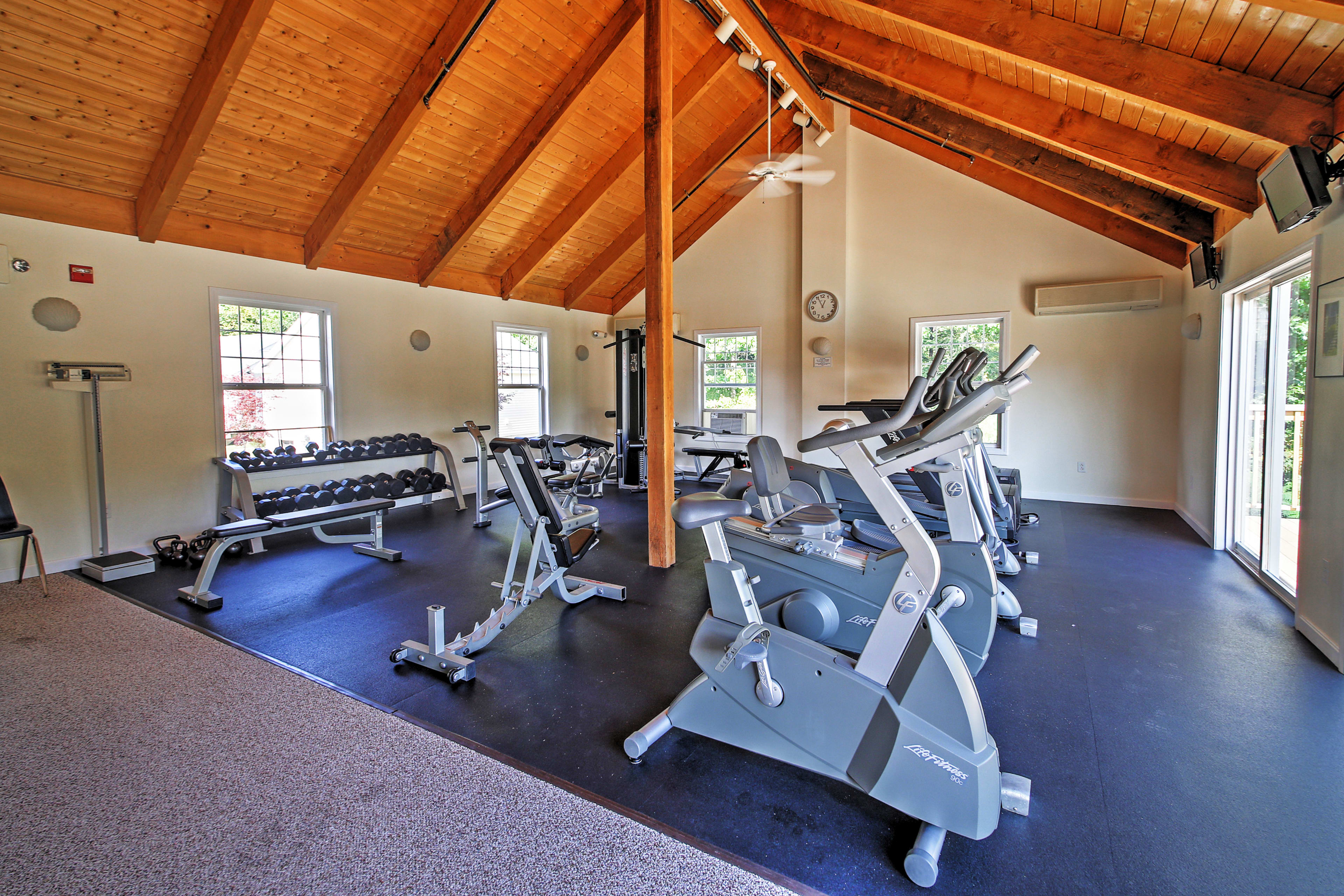 Blow off some steam in the community fitness room.