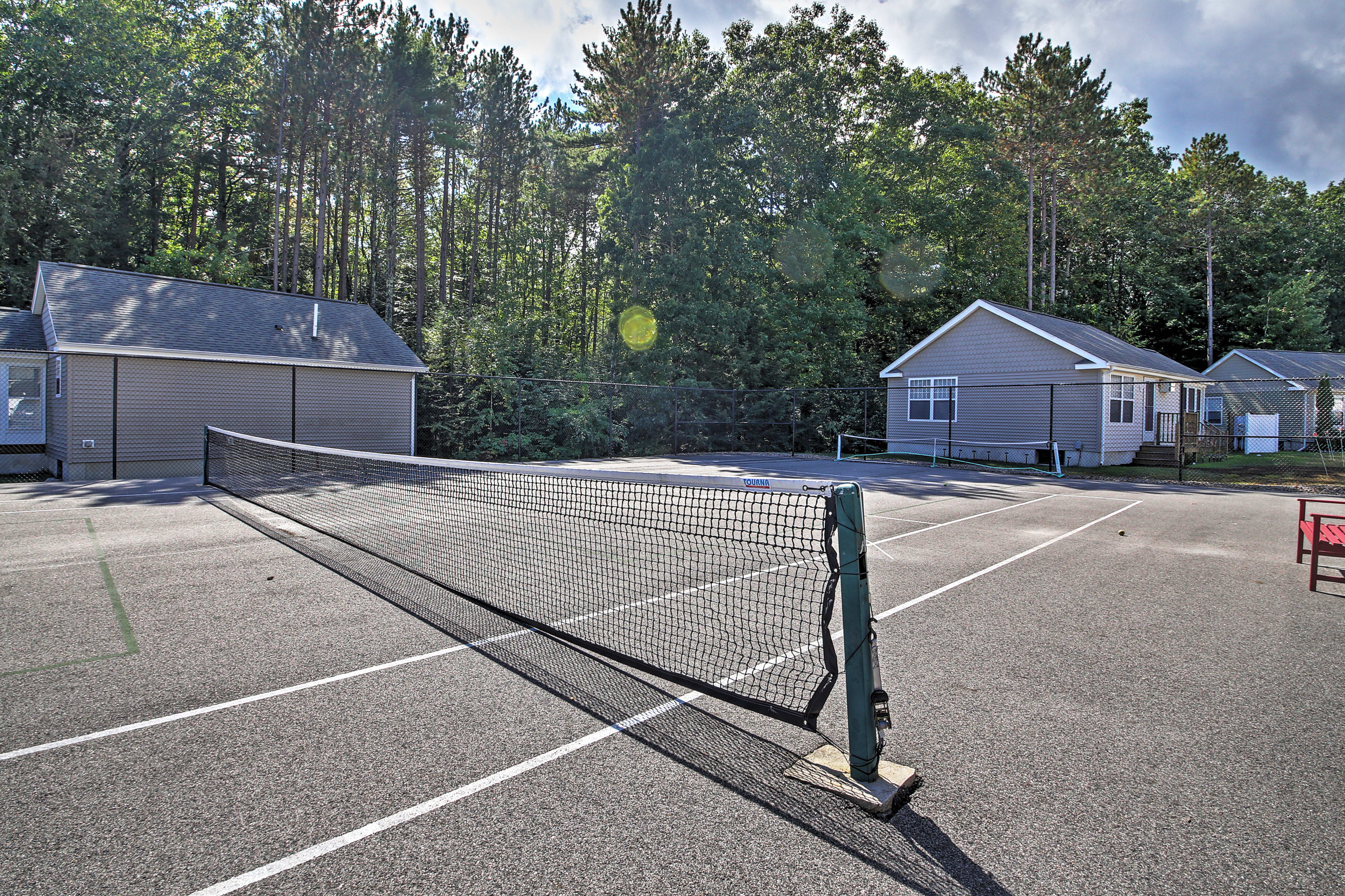 Play a round or two of tennis!