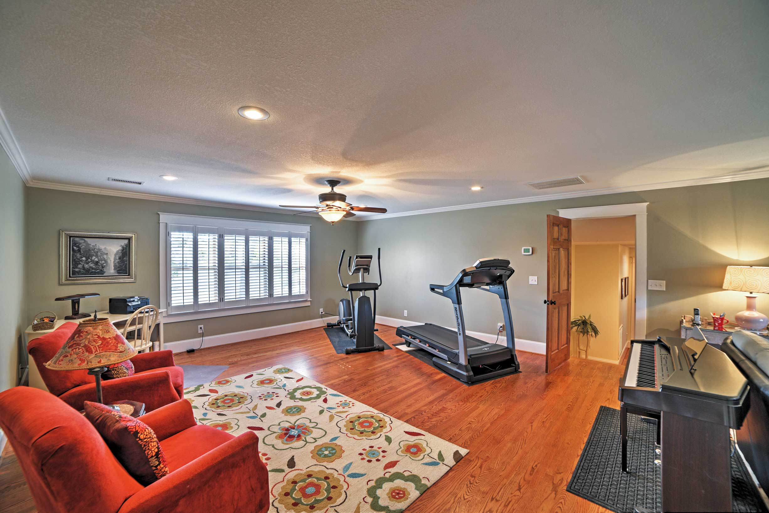 Break a sweat on the exercise equipment!