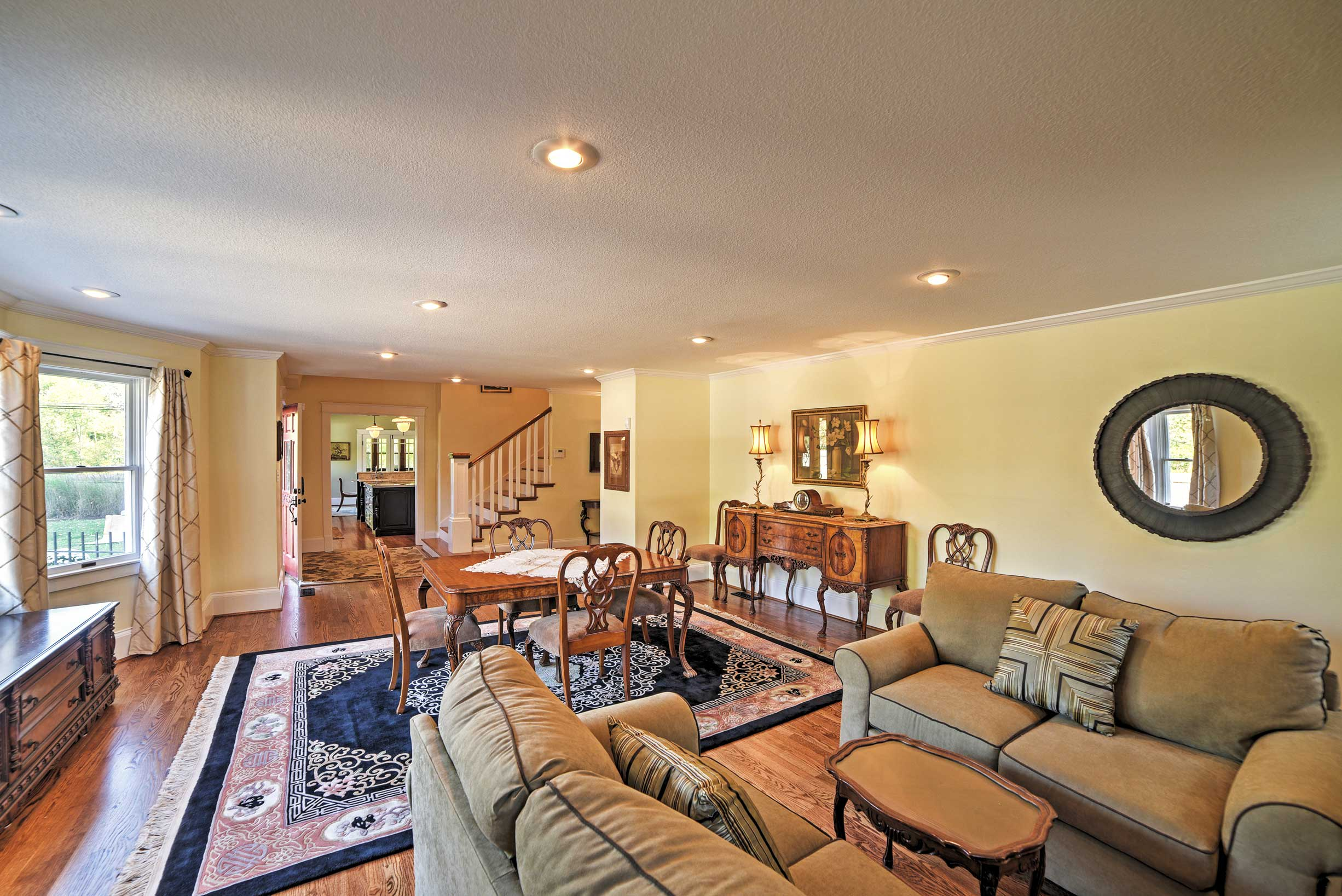 Spread out throughout 5,800 square feet of living space.