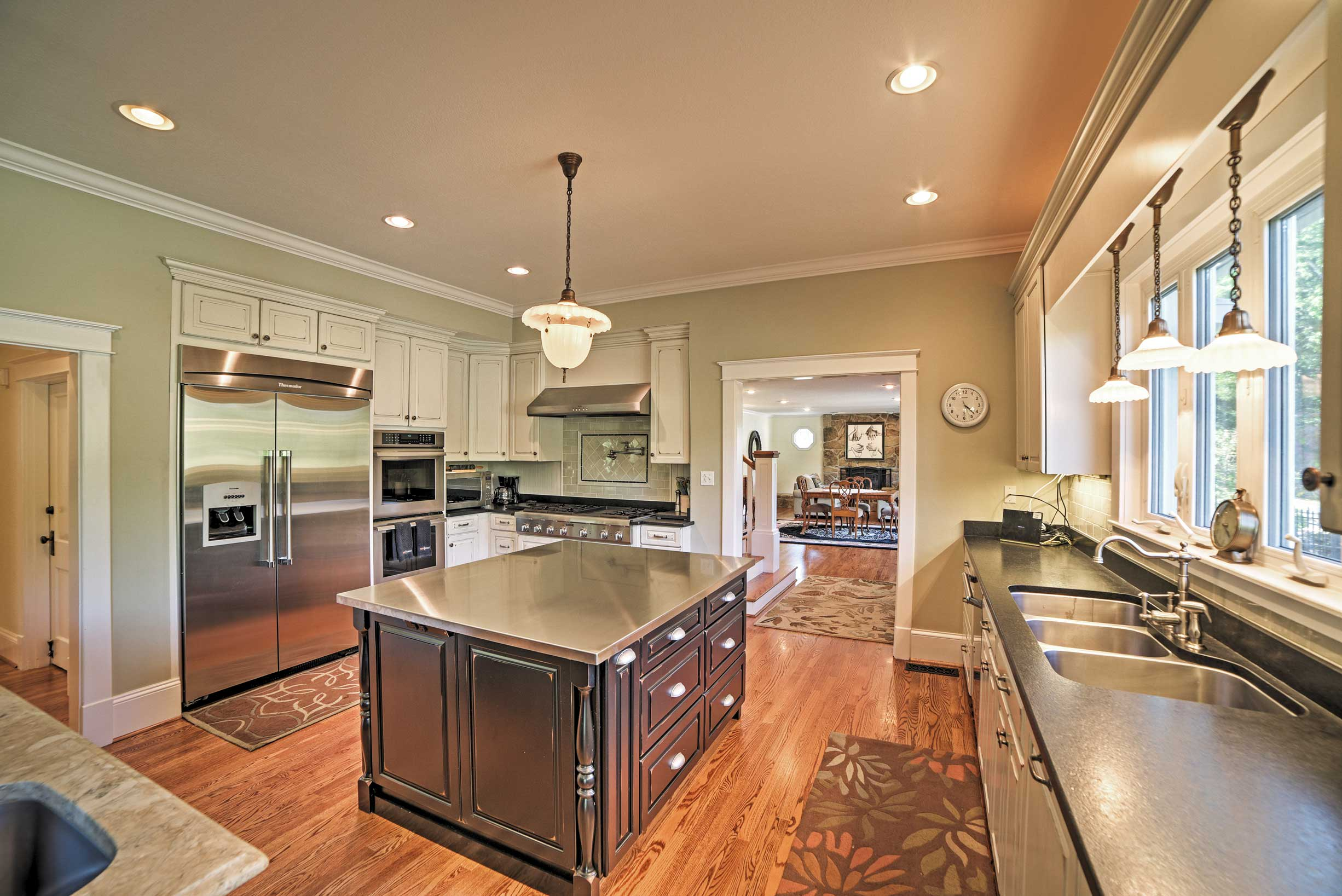 The fully equipped kitchen makes it easy to cook for a crowd.