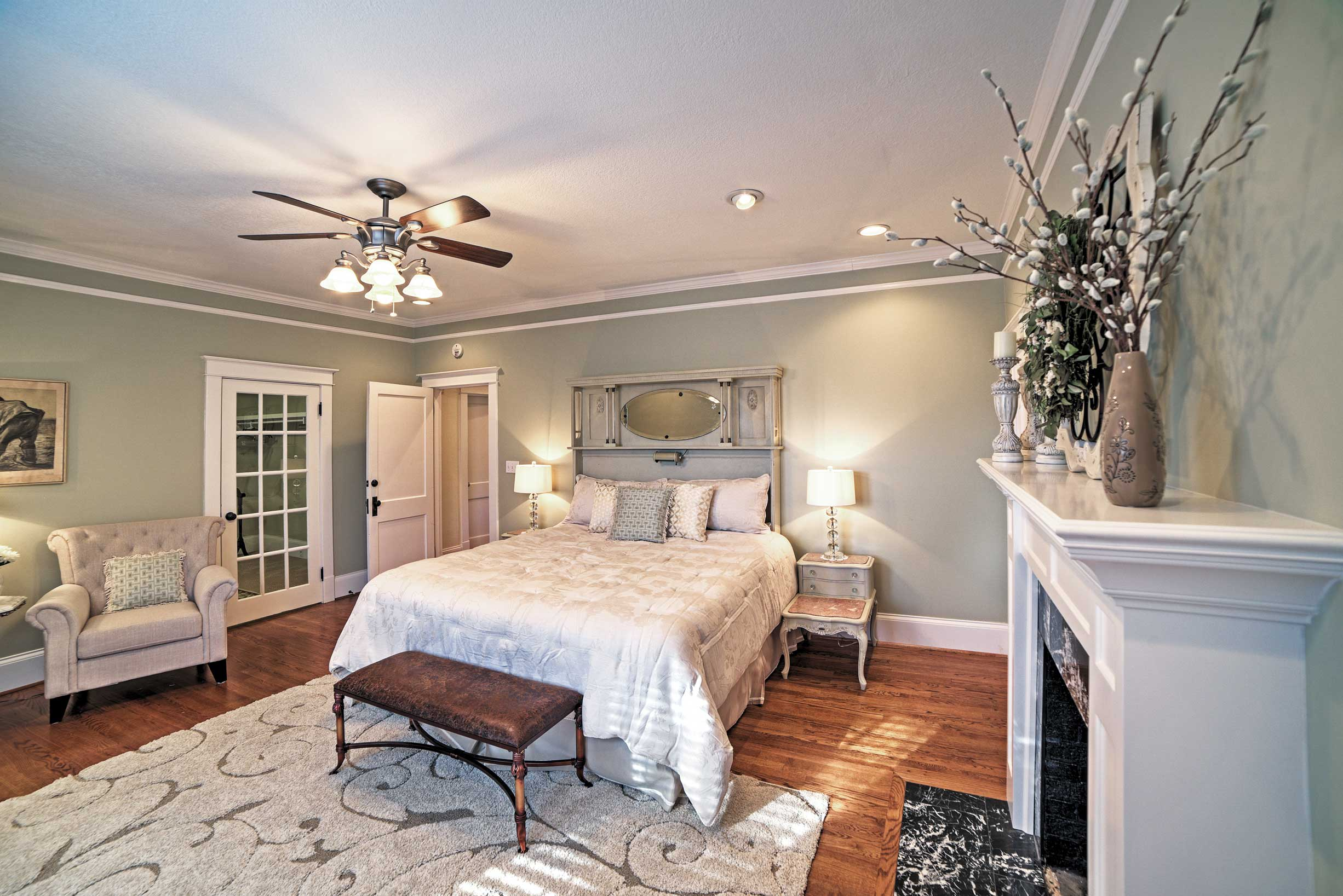 Rest your head in this gorgeous bedroom.