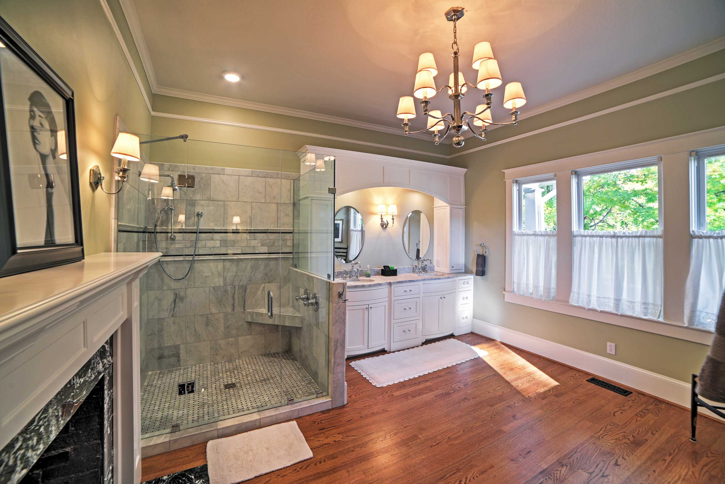 The bathroom is truly luxurious.