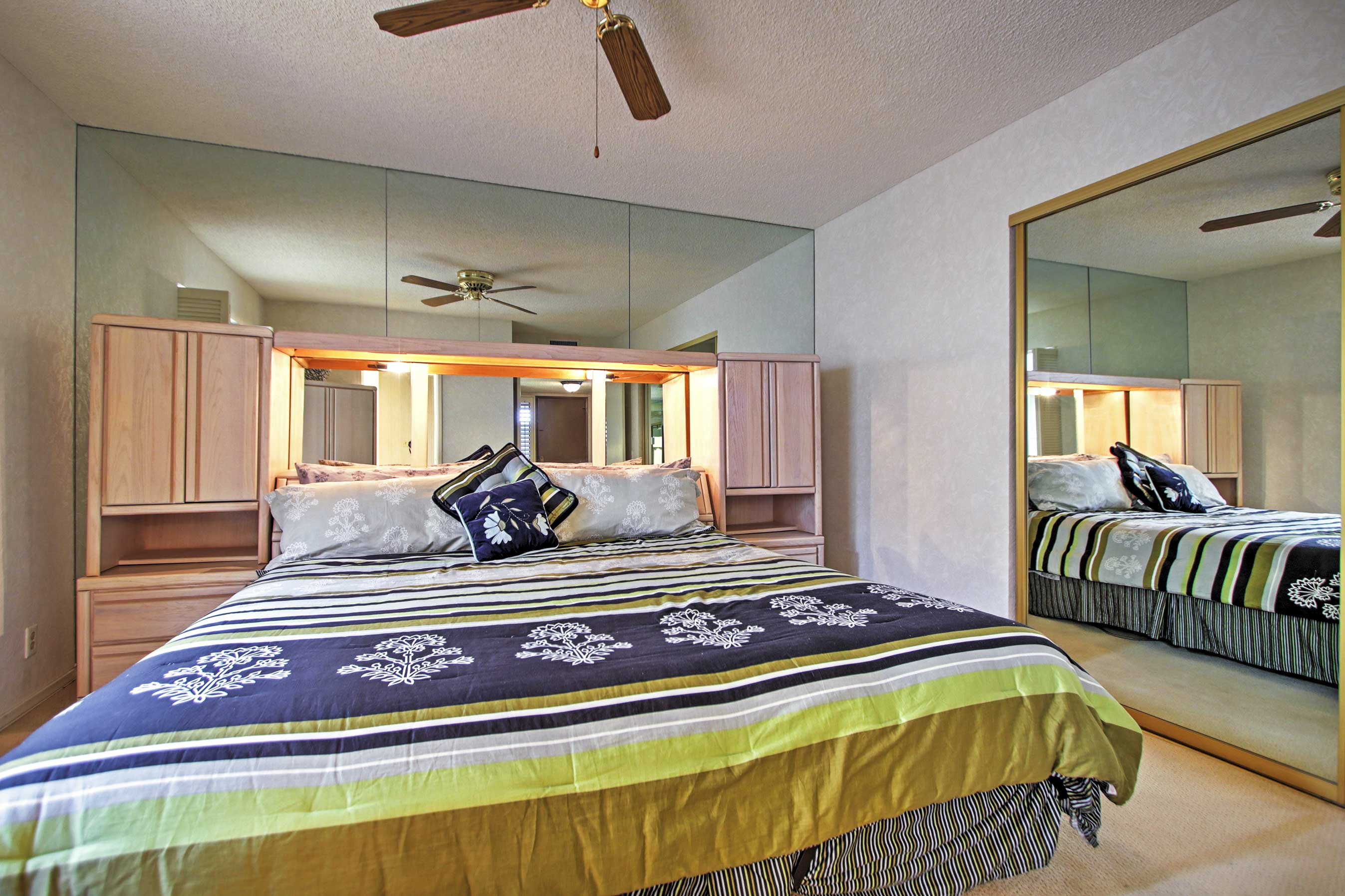 You'll find a spacious king bed in this final bedroom.